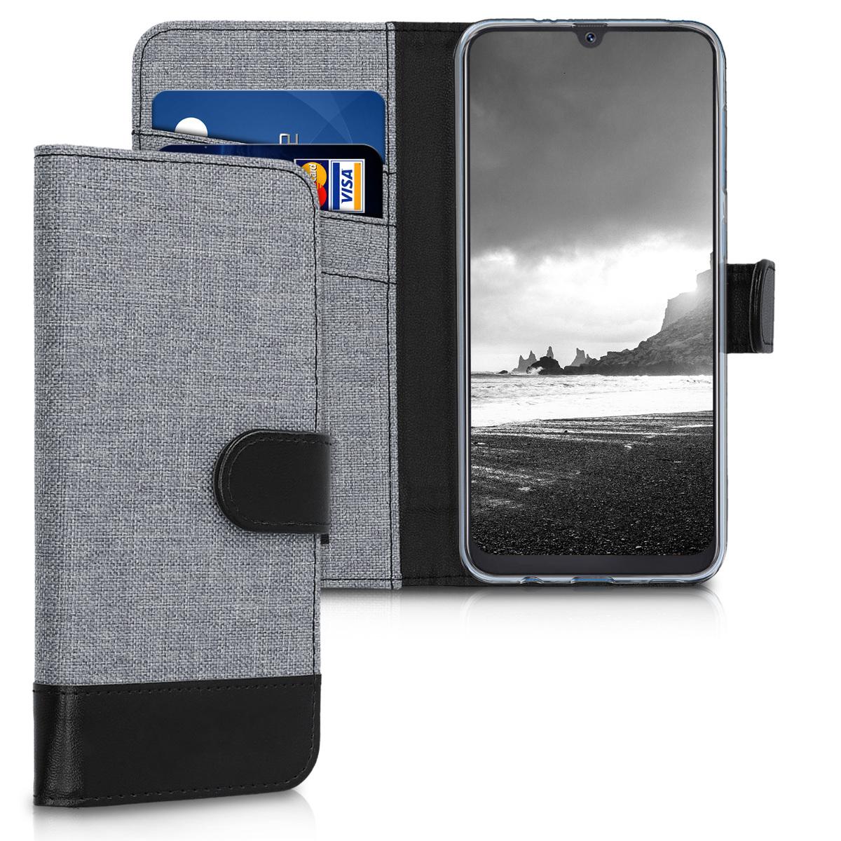 Fabricpouzdro pro Samsung A50 - šedé / černé