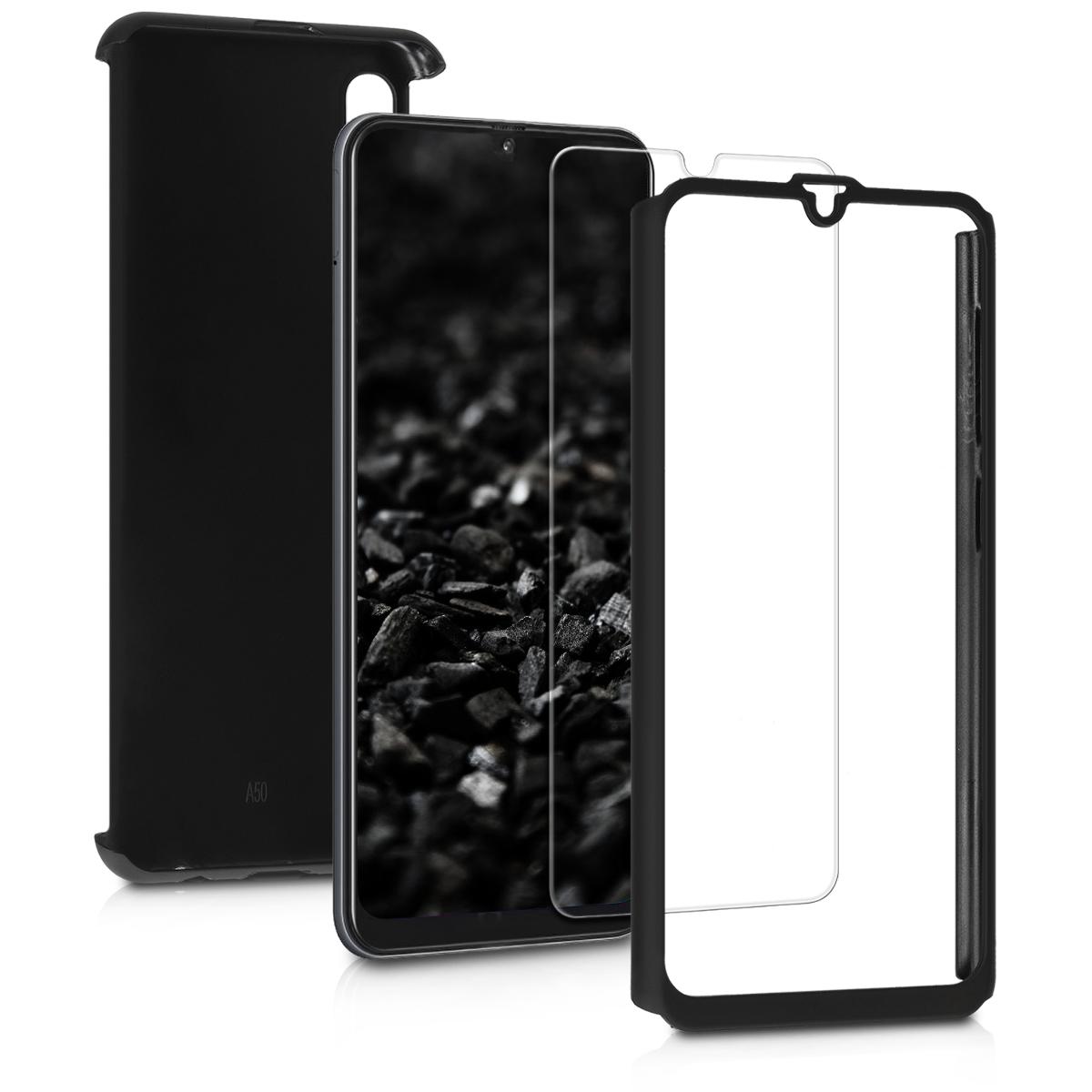 Kvalitní plastové pouzdro pro Samsung A50 - metalické černé
