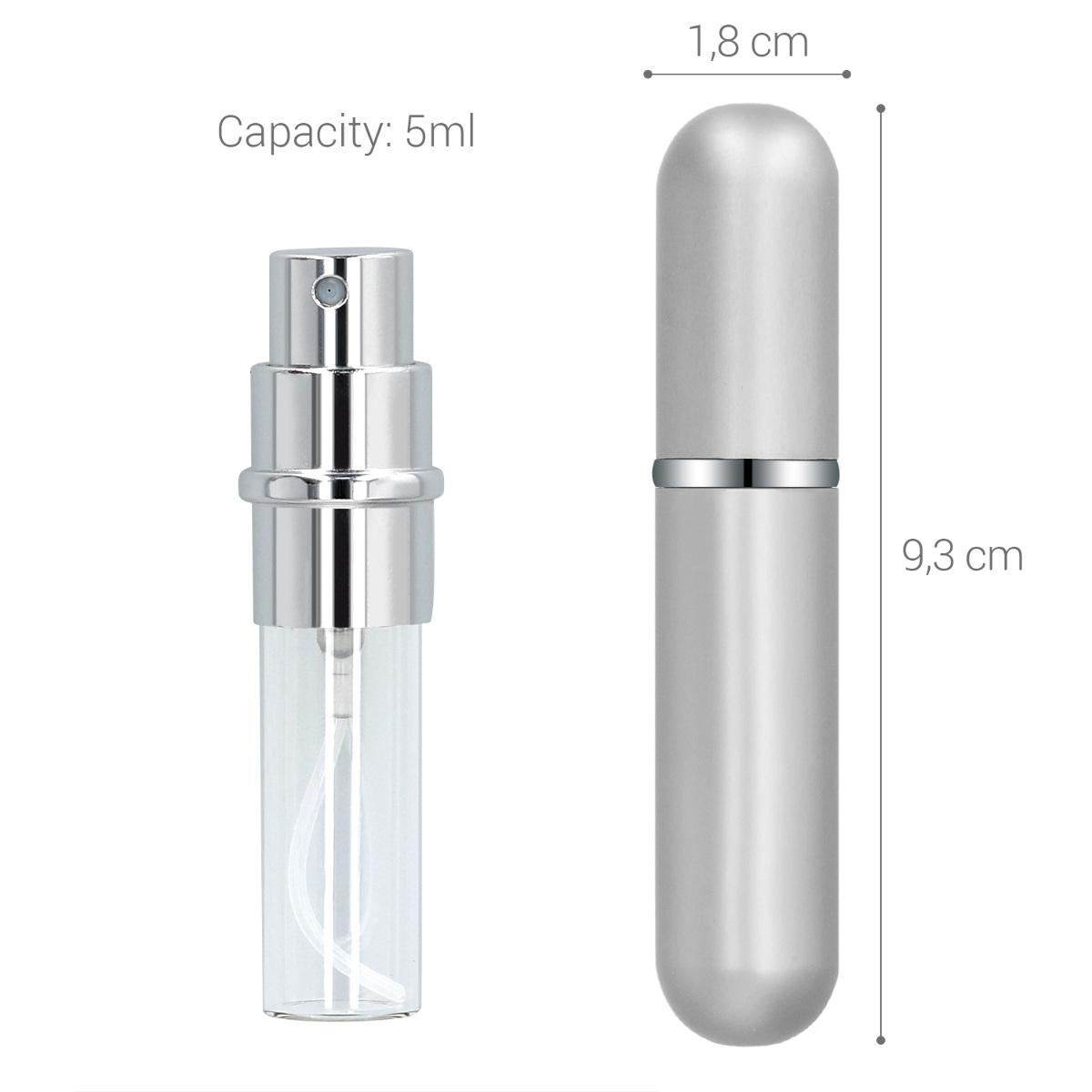 8dd3eafe53a7 Details about 2x Refillable Perfume Atomizers 1 6 oz 5ml Atomisers -  Desired Color