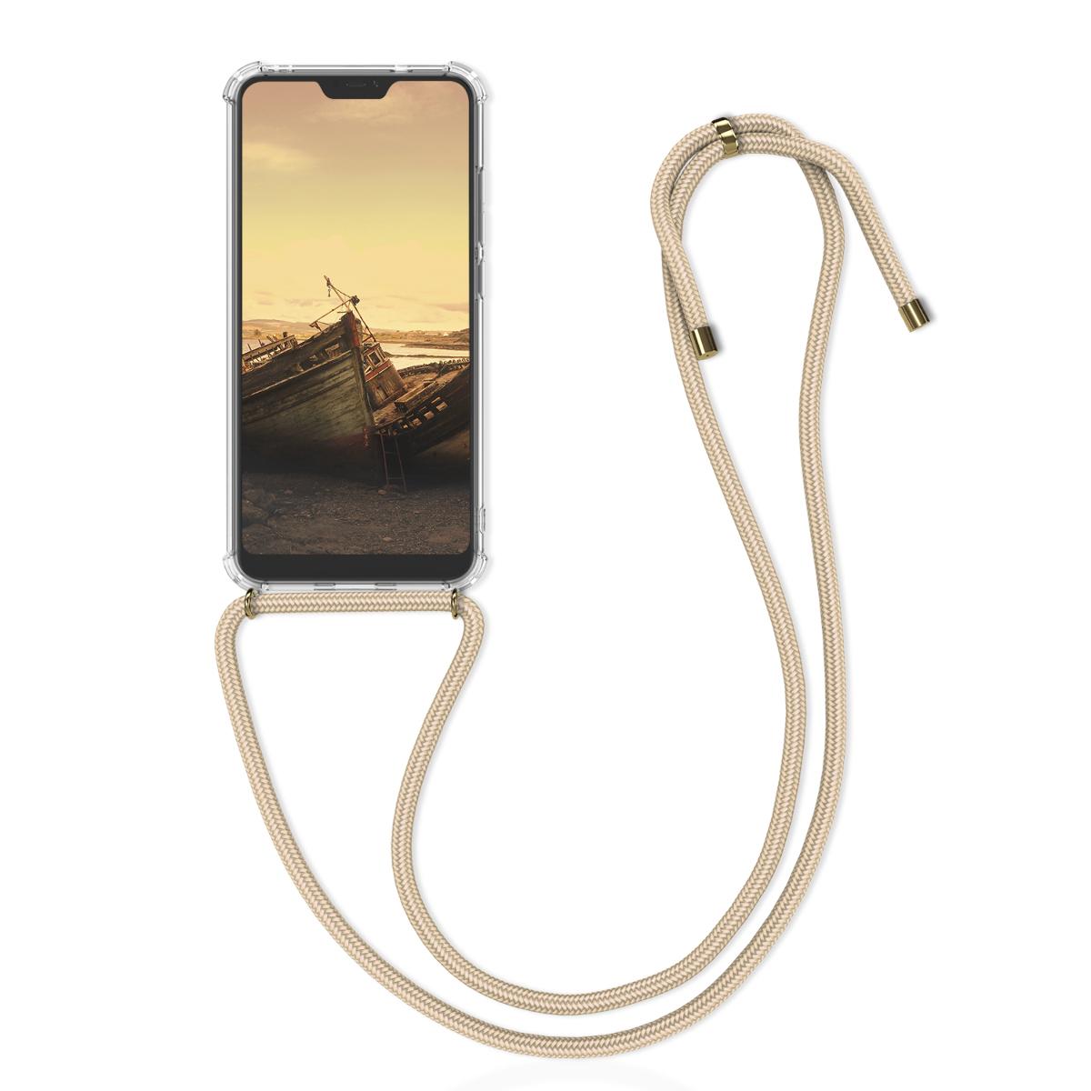 Kvalitní silikonové TPU pouzdro | obal pro Xiaomi Redmi 6 Pro | Mi A2 Lite - zlatý / transparentní