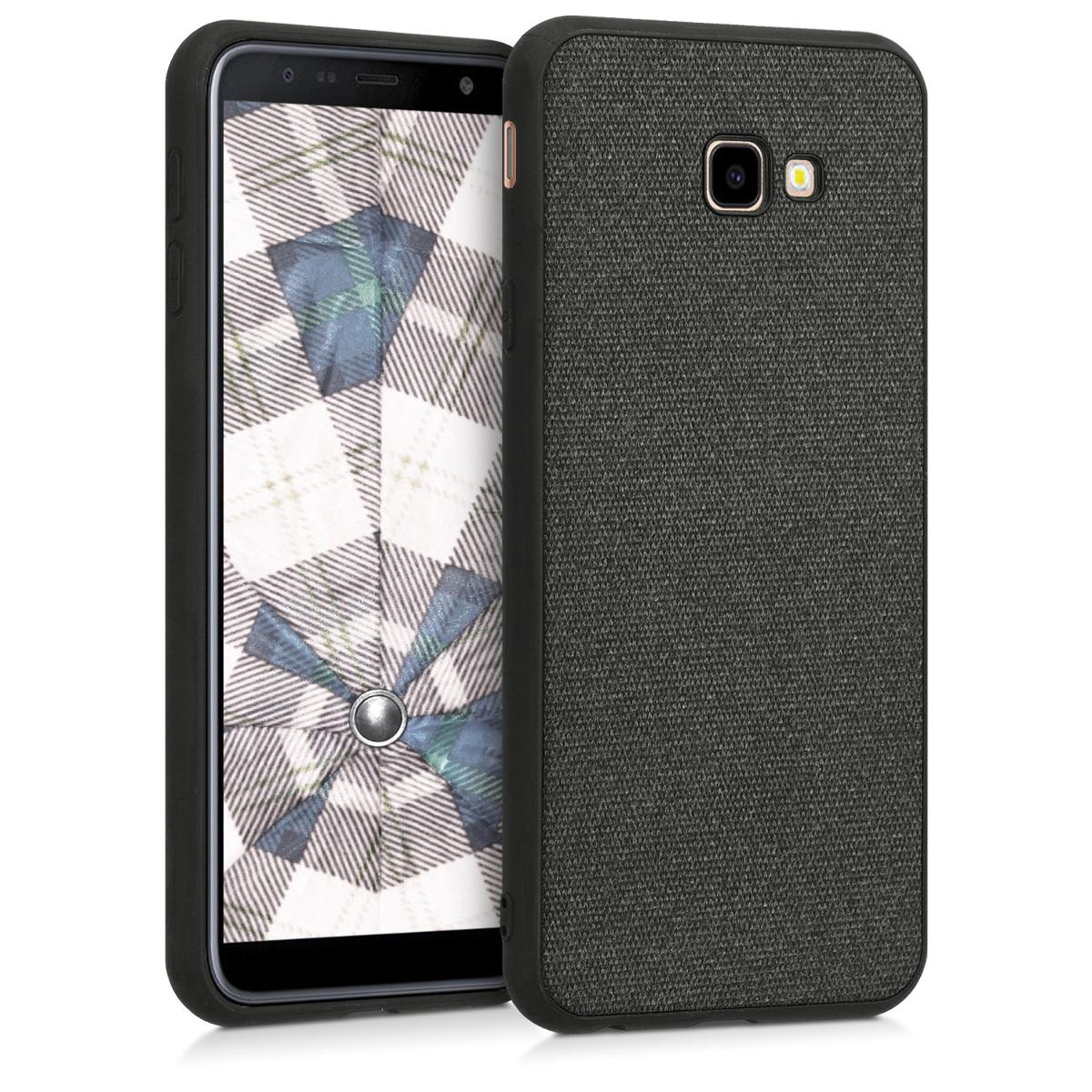Kvalitní textilní pouzdro pro Samsung J4+ | J4 Plus DUOS - Tmavošedý