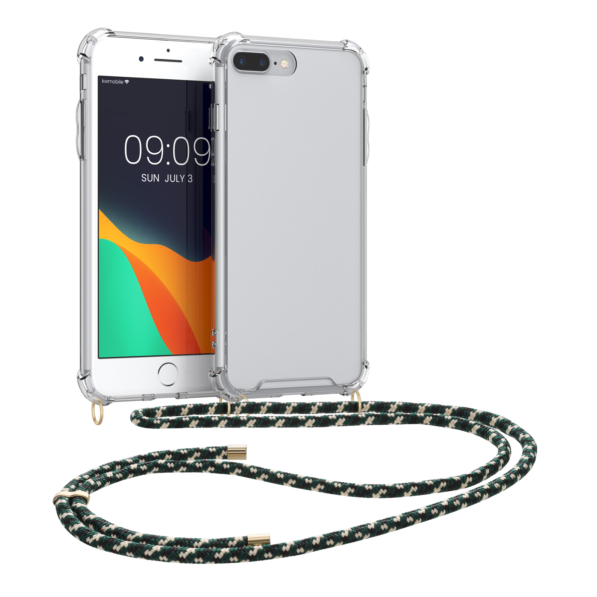 finest selection 31b84 6a284 Details about Crossbody Case for Apple iPhone 7 Plus 8 Plus with Neck  Lanyard Strap