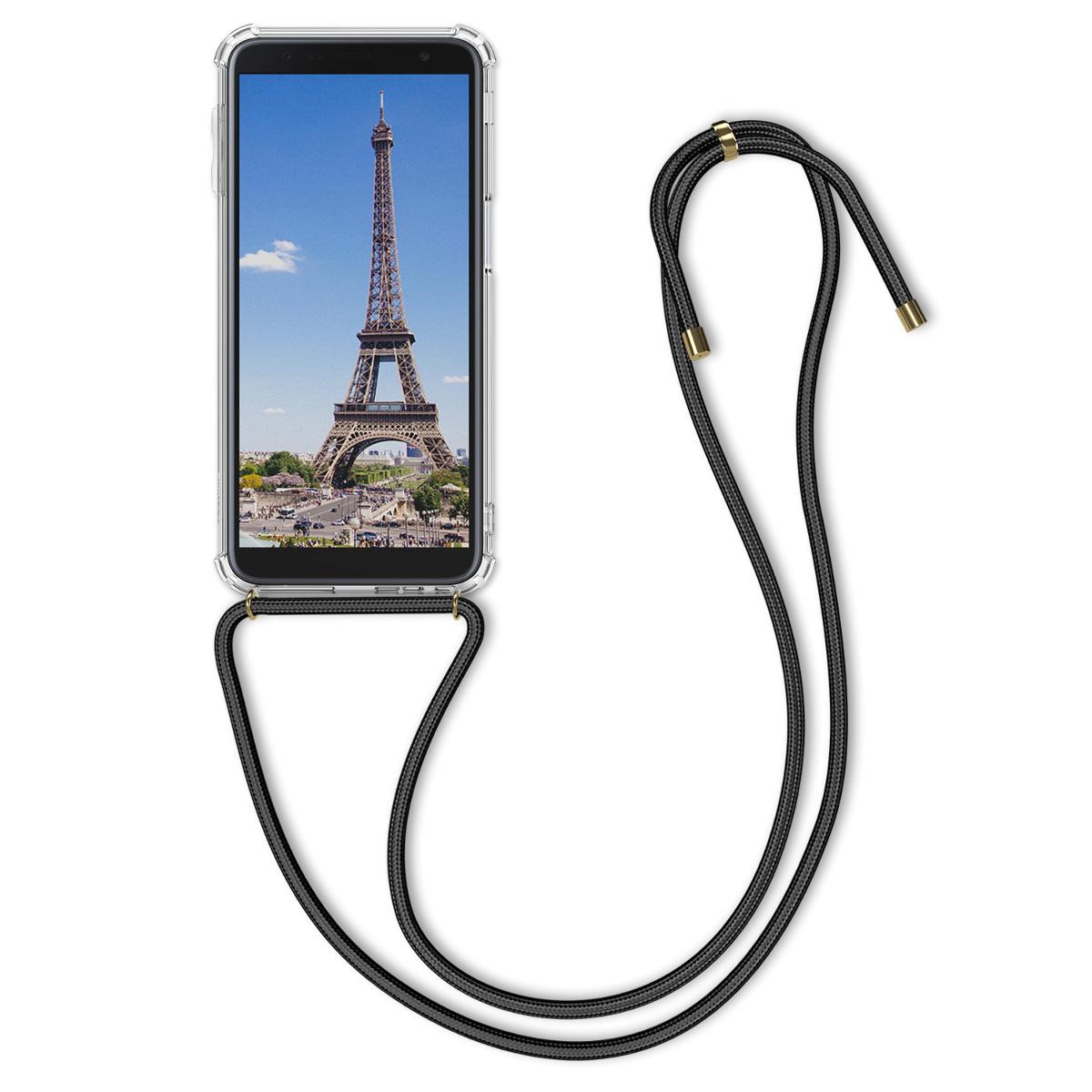 Kvalitní silikonové TPU pouzdro pro Samsung J6+ | J6 Plus DUOS - transparentní / černé