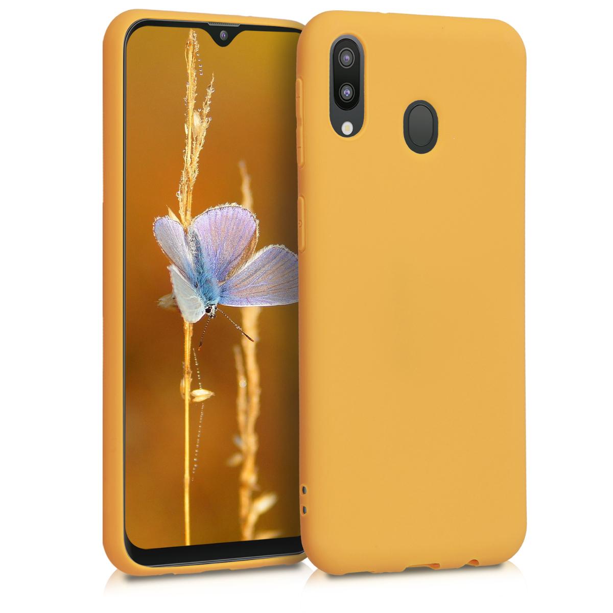Kvalitní silikonové TPU pouzdro pro Samsung M20 (2019) - medově žluté
