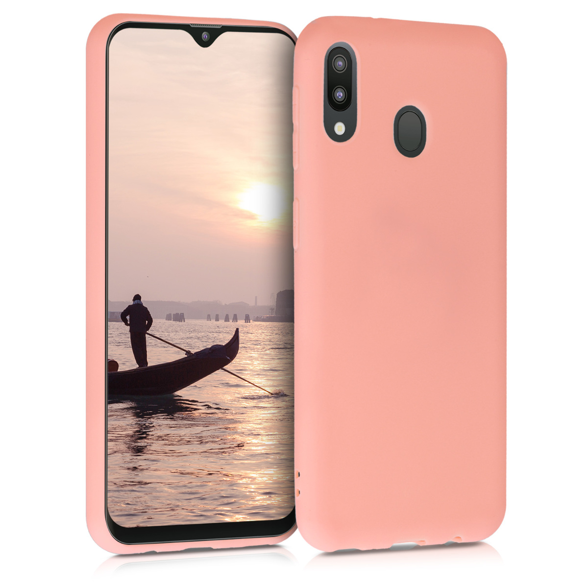 Kvalitní silikonové TPU pouzdro pro Samsung M20 (2019) - korálově oranžové matné