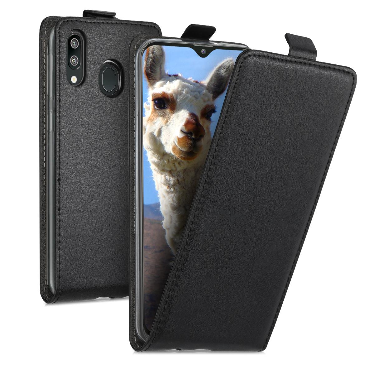 Kožené pouzdro pro Samsung M20 (2019) - černé