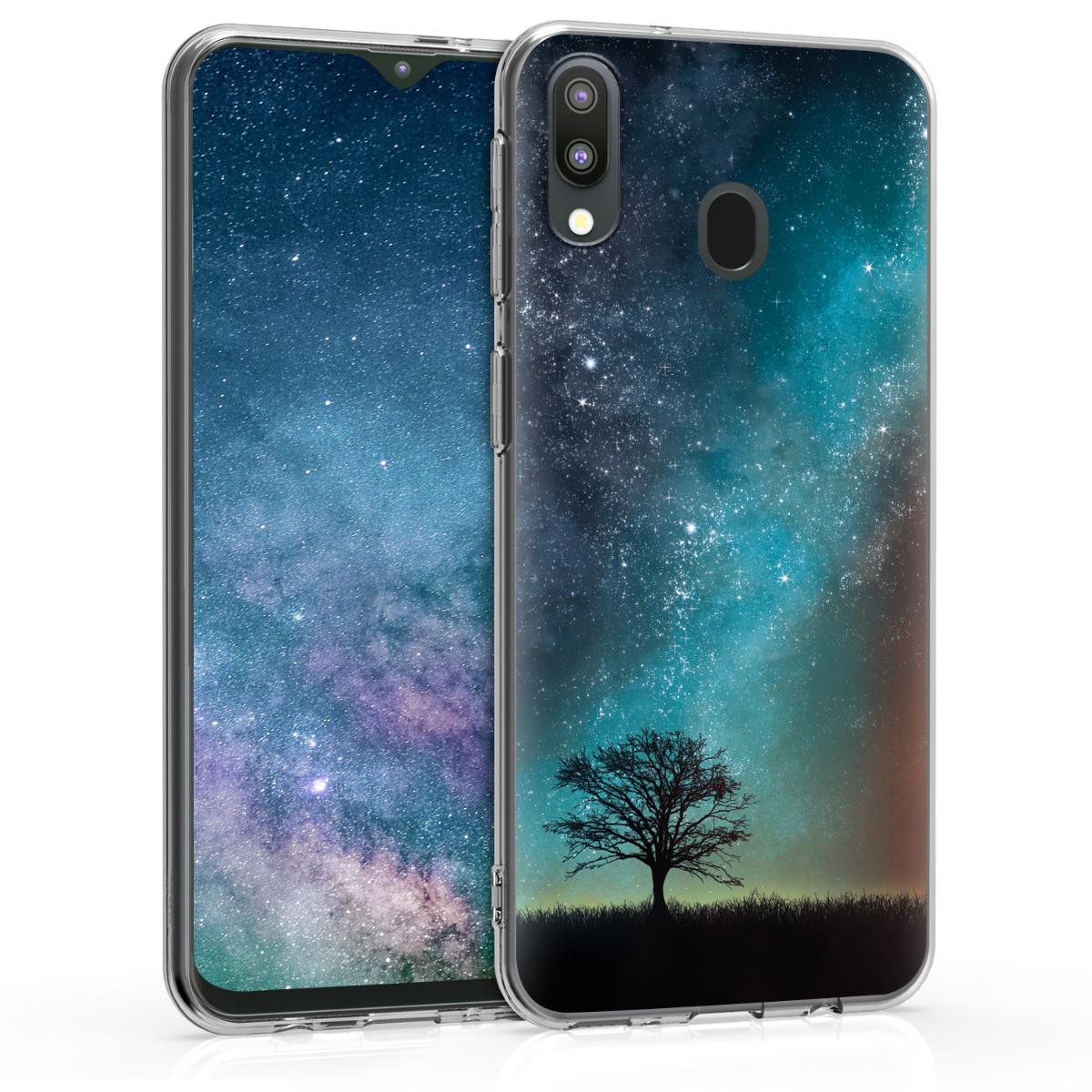 Kvalitní silikonové TPU pouzdro pro Samsung M20 (2019) - kosmické přírodní modré / šedé / černé