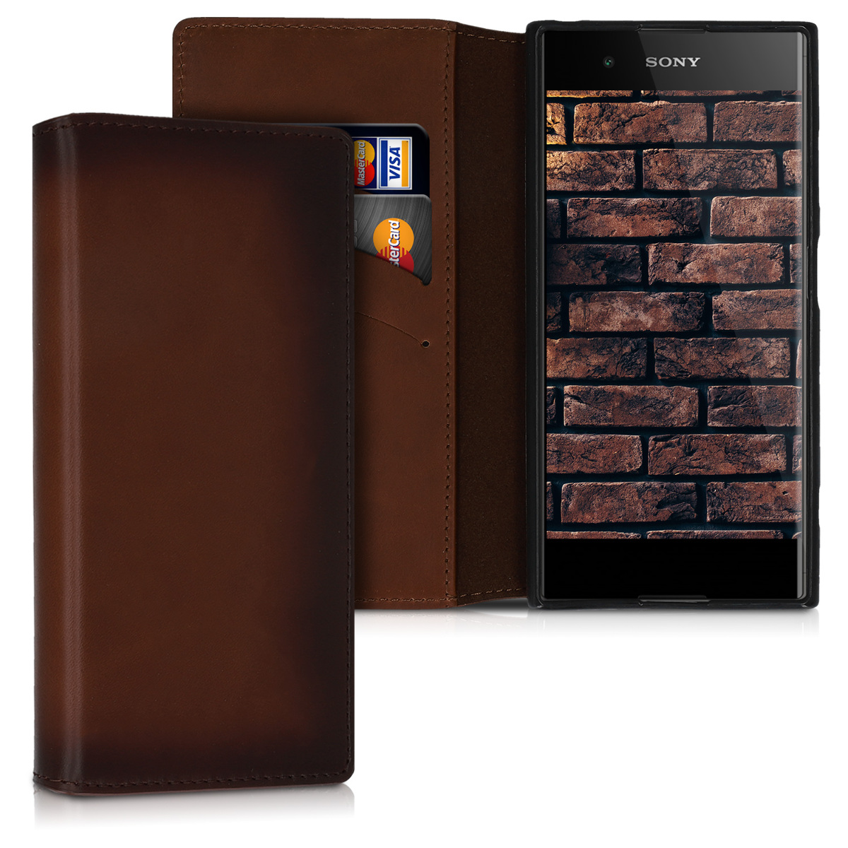 Kožené pouzdro | obal pro Sony Xperia XA1 Plus - Vintage hnědé