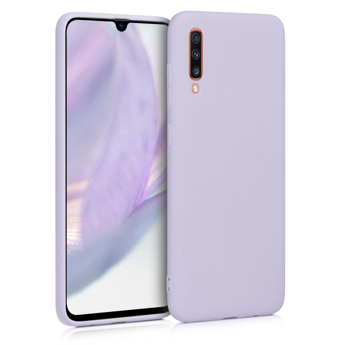 Kvalitní silikonové TPU pouzdro pro Samsung A70 - levandulové fialové