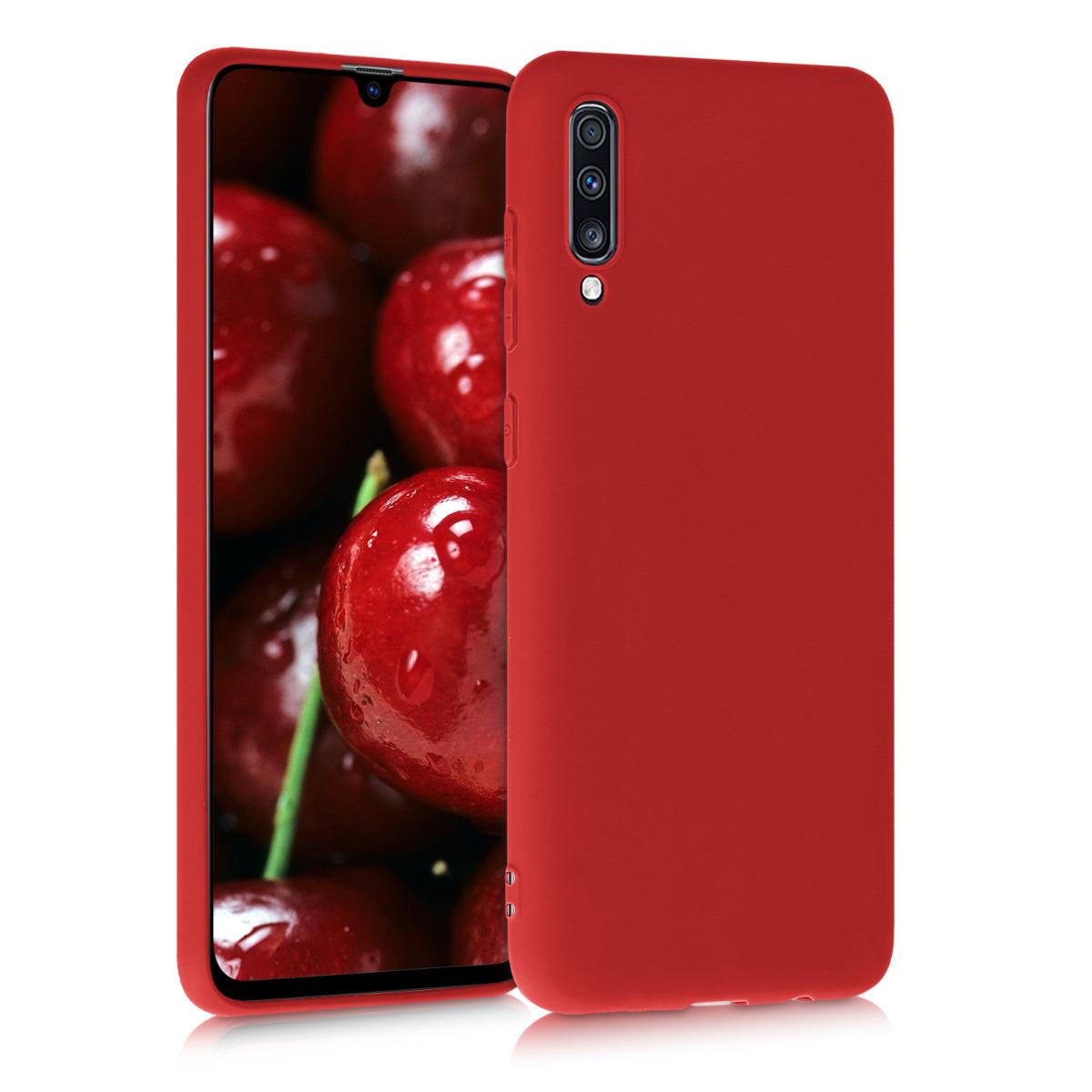 Kvalitní silikonové TPU pouzdro pro Samsung A70 - tmavě červená