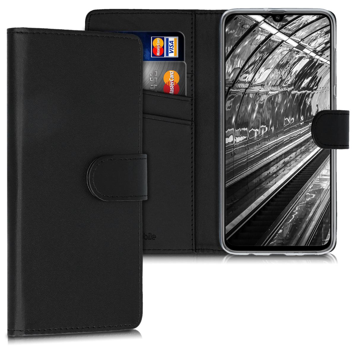 Kožené pouzdro pro Samsung A70 - černé