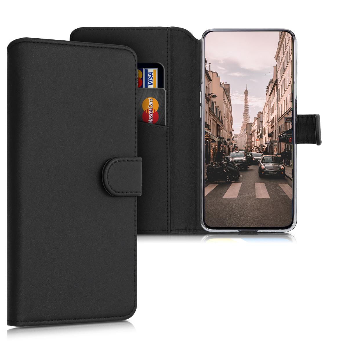 Kožené pouzdro pro Samsung A80 - černé