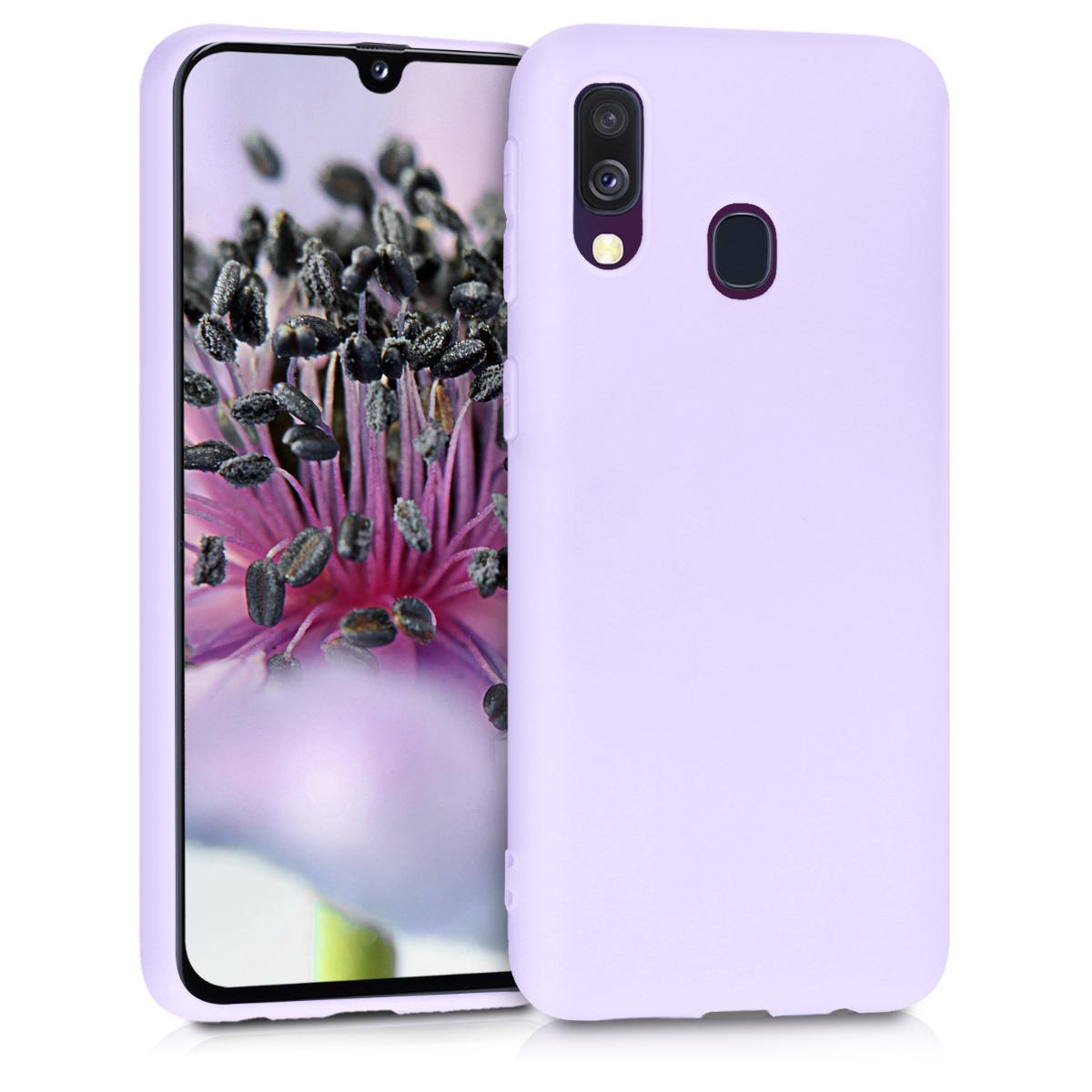 Kvalitní silikonové TPU pouzdro pro Samsung A40 - levandulové fialové