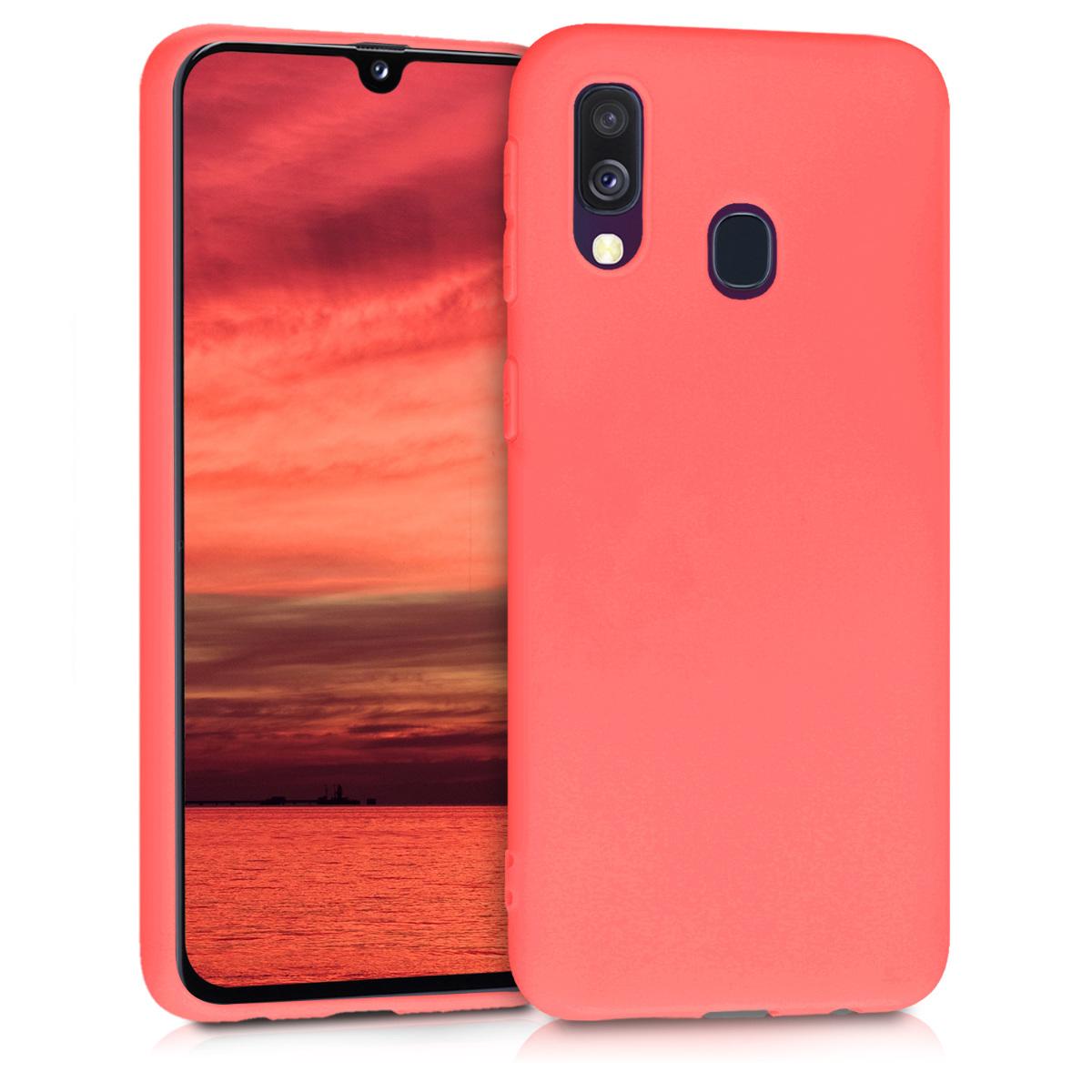 Kvalitní silikonové TPU pouzdro pro Samsung A40 - Living korálově oranžové