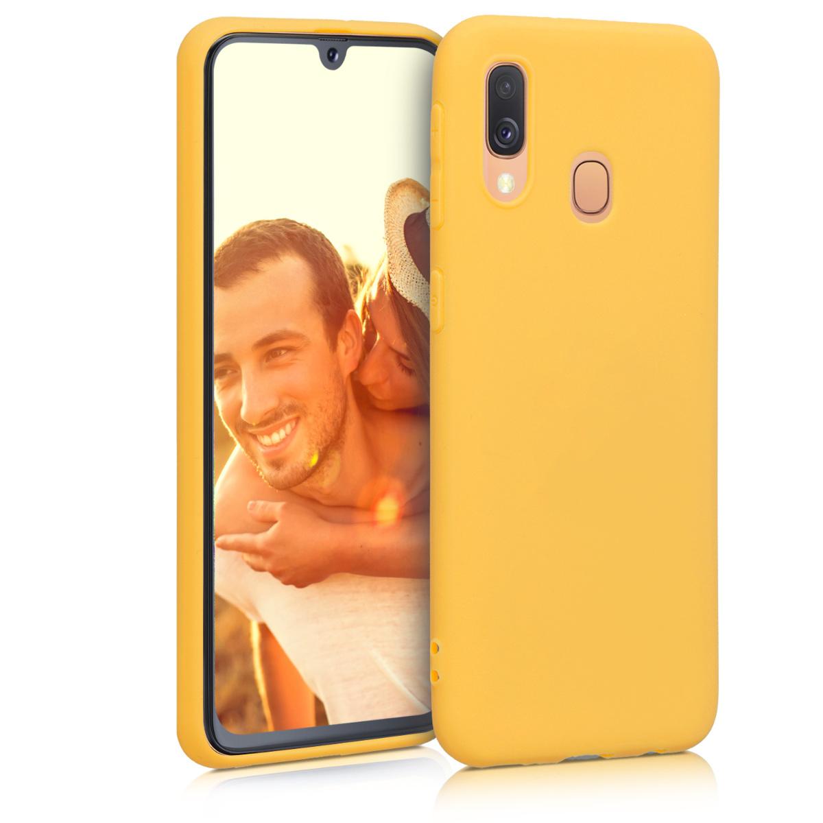 Kvalitní silikonové TPU pouzdro pro Samsung A40 - medově žluté