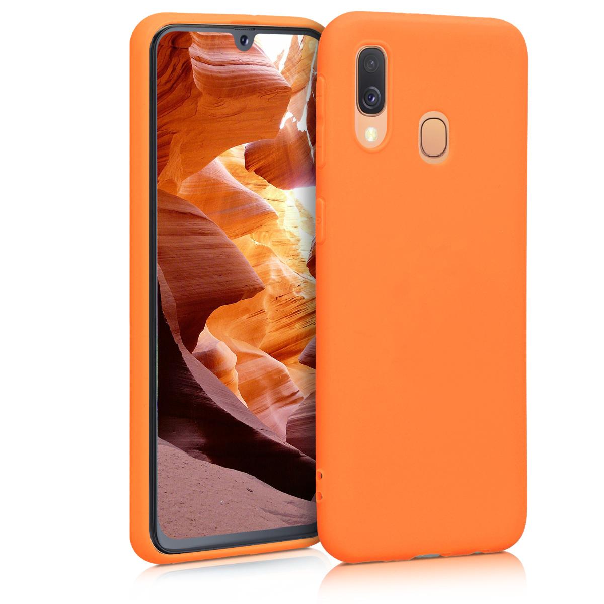 Kvalitní silikonové TPU pouzdro pro Samsung A40 - kosmické oranžové