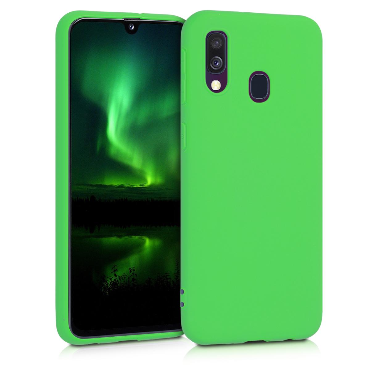 Kvalitní silikonové TPU pouzdro pro Samsung A40 - Limetkově zelená