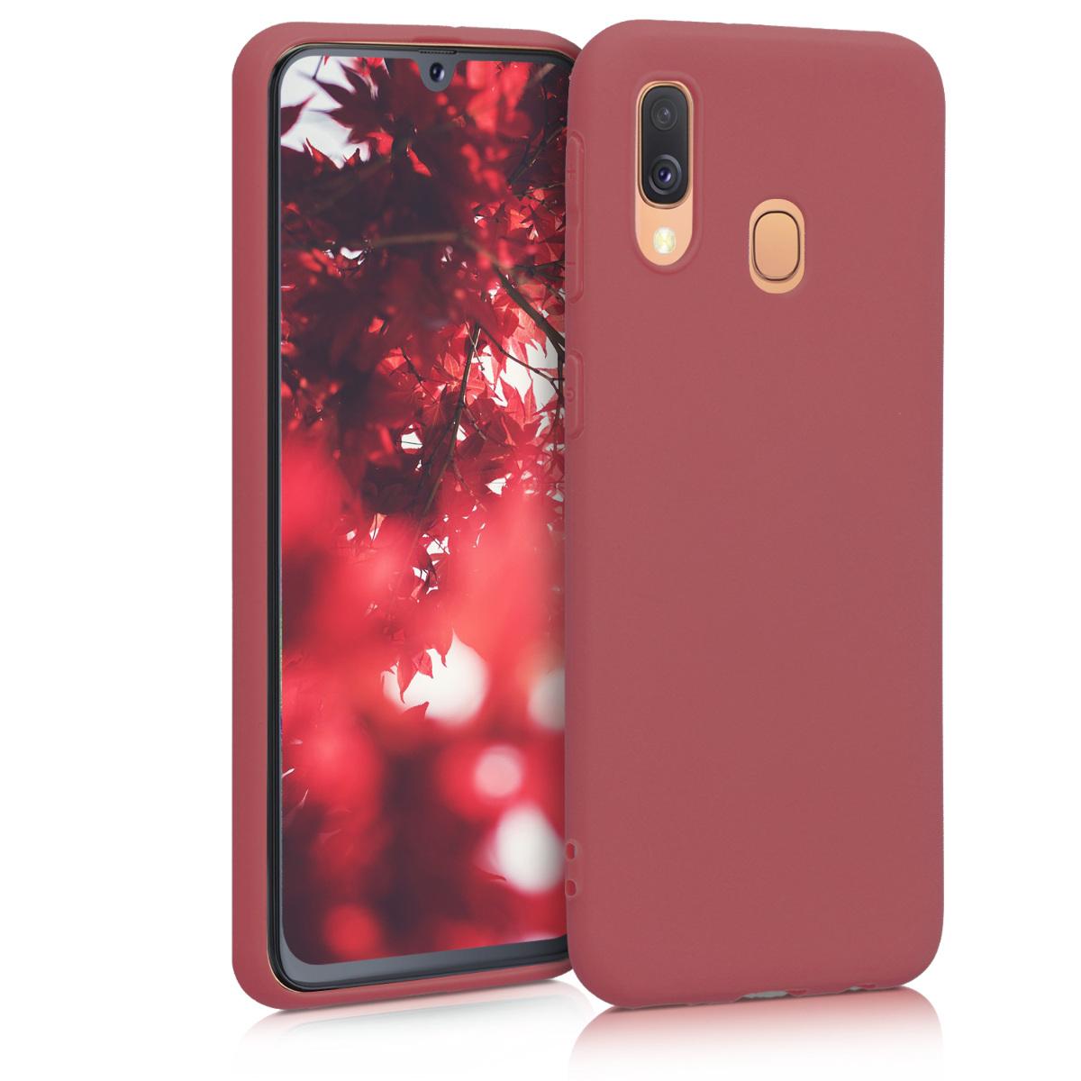 Kvalitní silikonové TPU pouzdro pro Samsung A40 - Maroon červené
