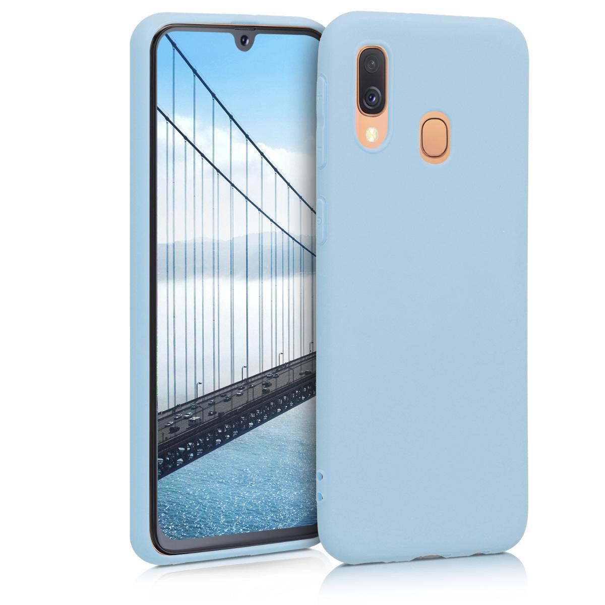 Kvalitní silikonové TPU pouzdro pro Samsung A40 - světle  modré matné
