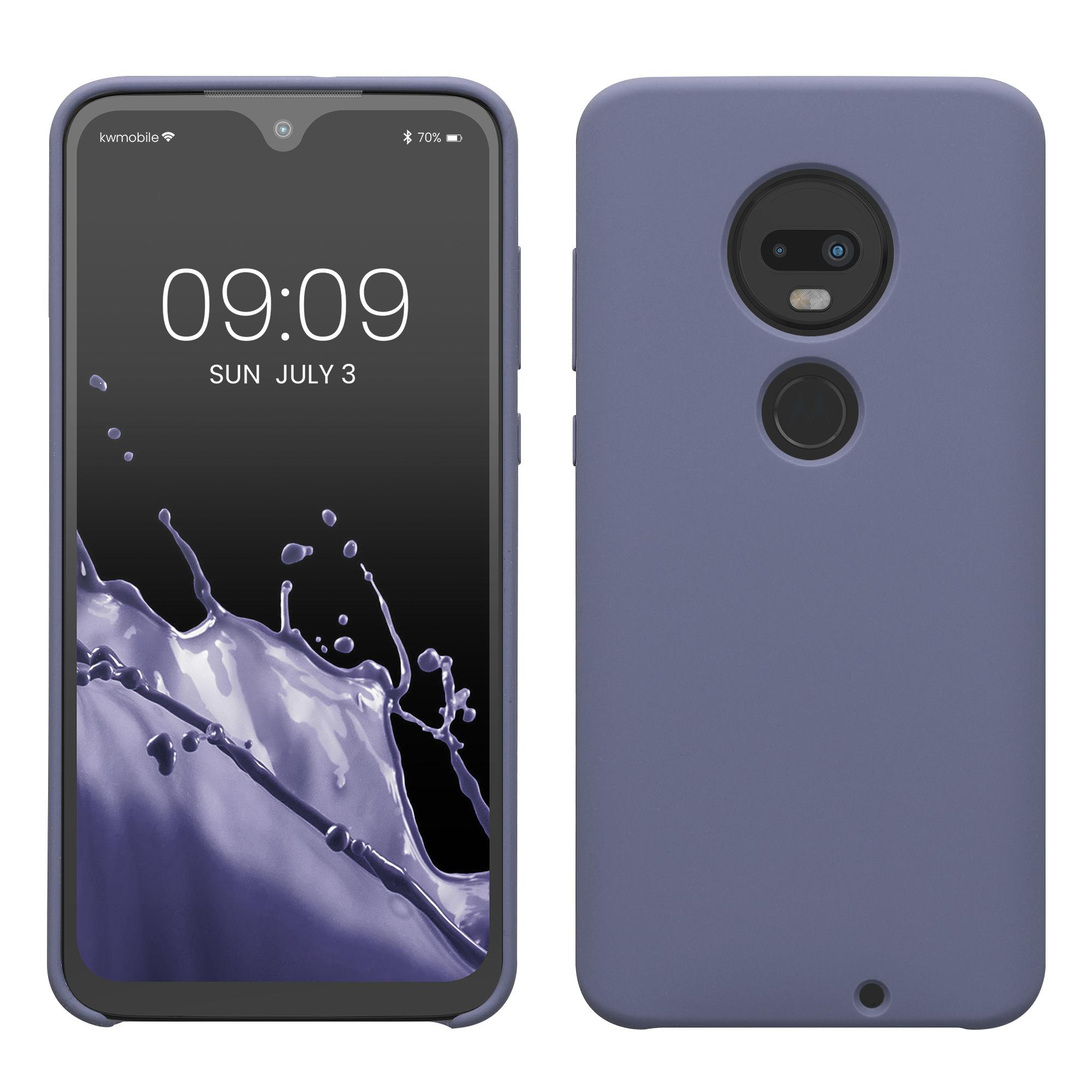 Kvalitní silikonové TPU pouzdro | obal pro Motorola Moto G7 / Moto G7 Plus - Levandulově šedá