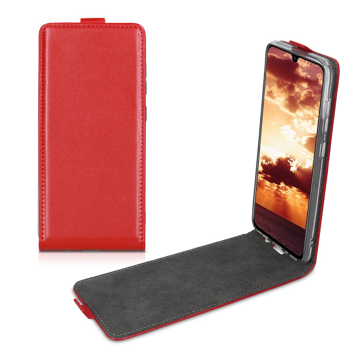 Kožené pouzdro pro Samsung A70 - červené