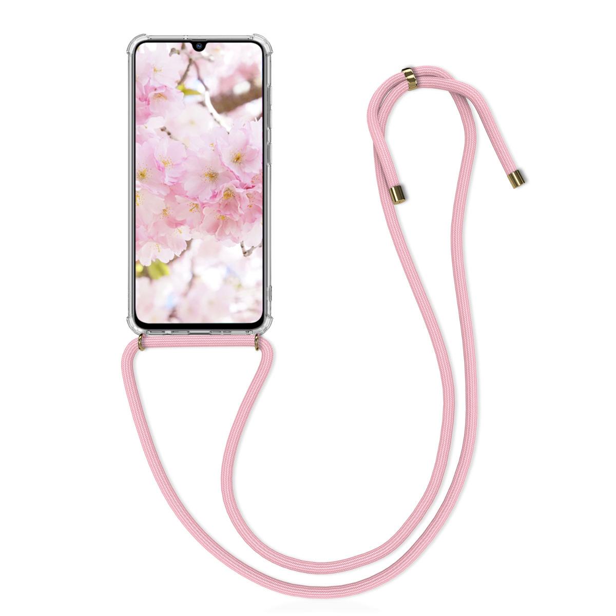 Kvalitní silikonové TPU pouzdro pro Samsung A70 - světle  růžová / transparentní
