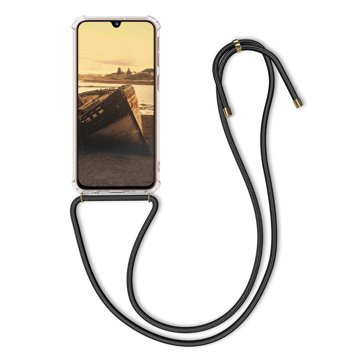 Kvalitní silikonové TPU pouzdro pro Samsung A40 - transparentní / černé
