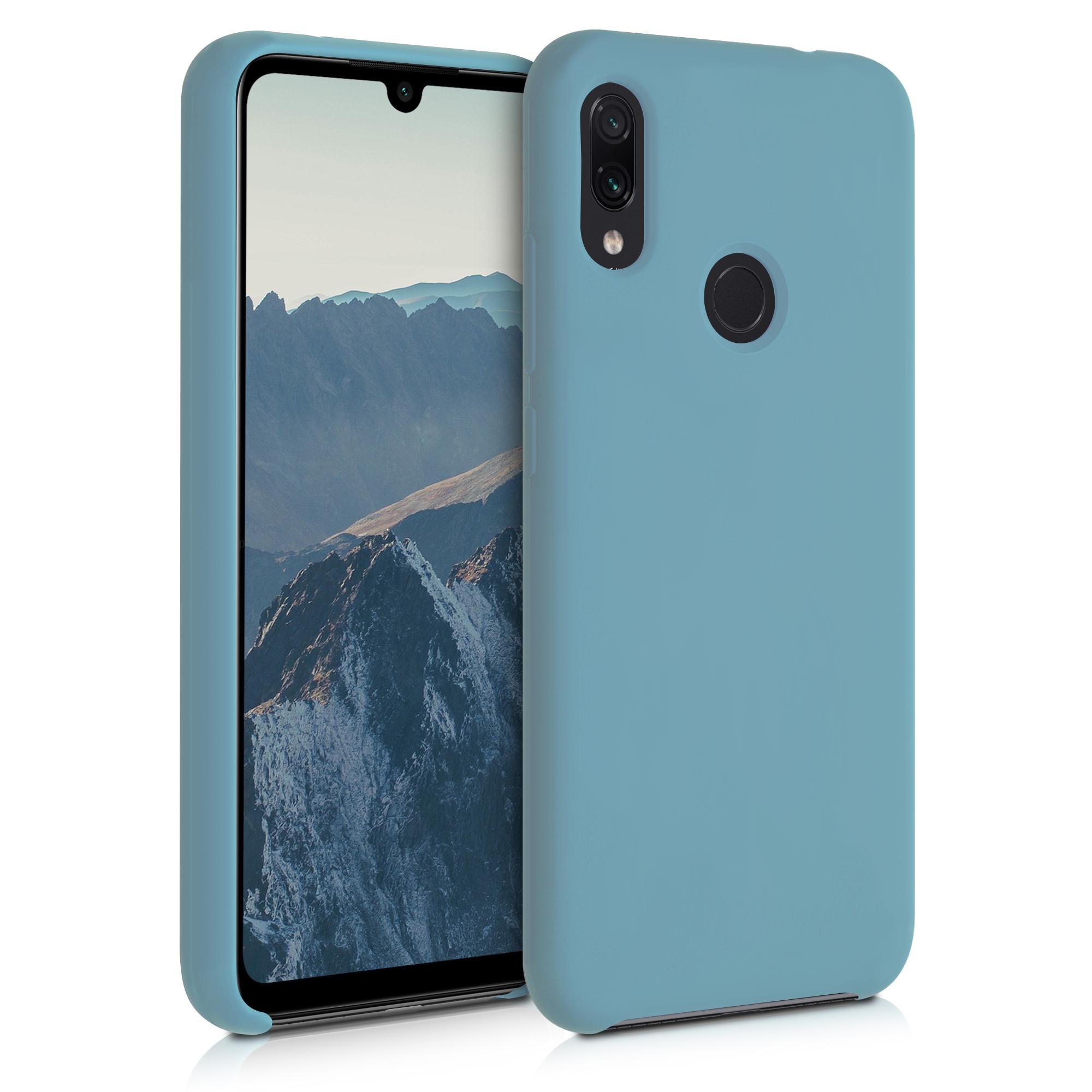 Kvalitní silikonové TPU pouzdro | obal pro Xiaomi Redmi Note 7 | Note 7 Pro - kámen modrý