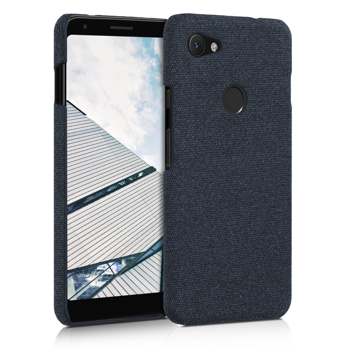 Textilní látkové pouzdro | obal pro Google Pixel 3a XL - Tmavě modrá