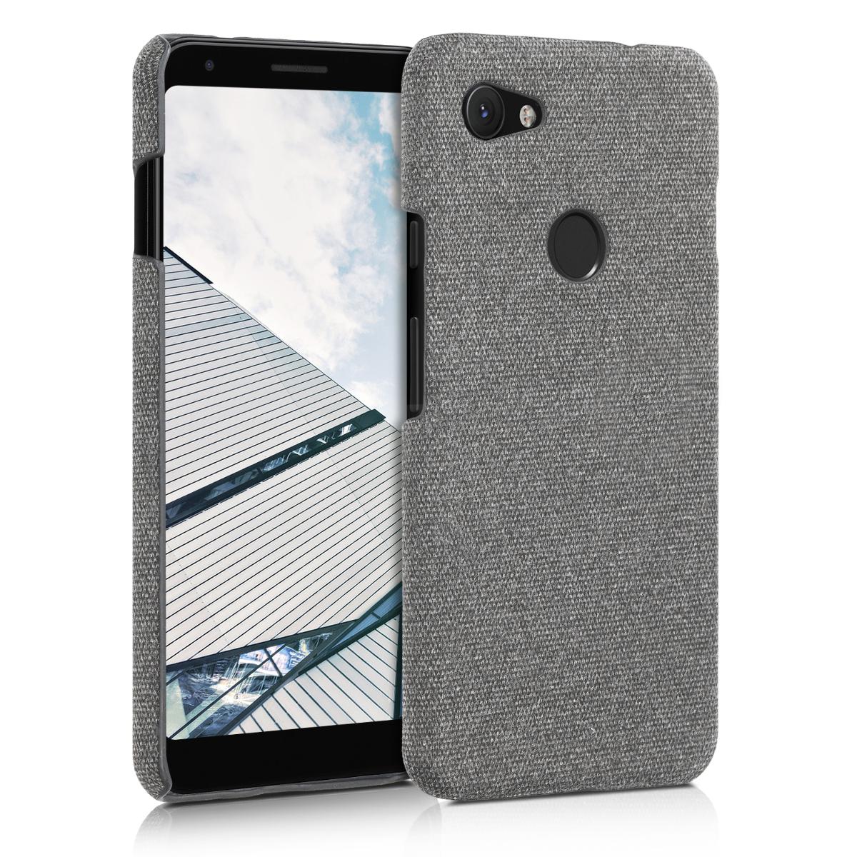 Textilní látkové pouzdro | obal pro Google Pixel 3a XL - Světle šedá
