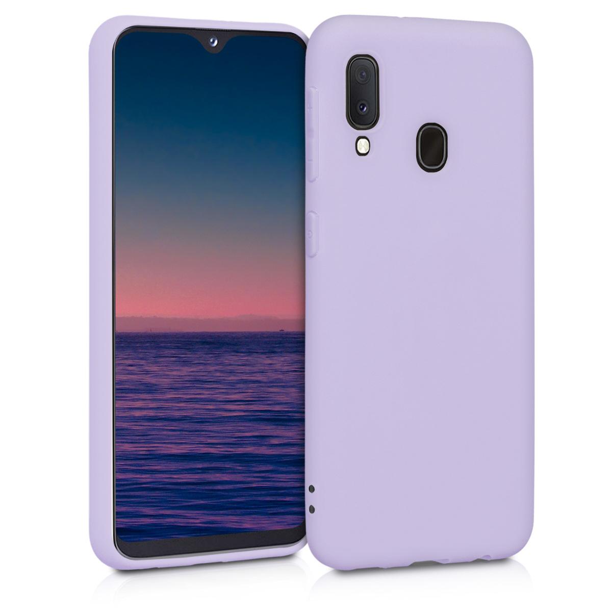 Kvalitní silikonové TPU pouzdro pro Samsung A20e - levandulové fialové