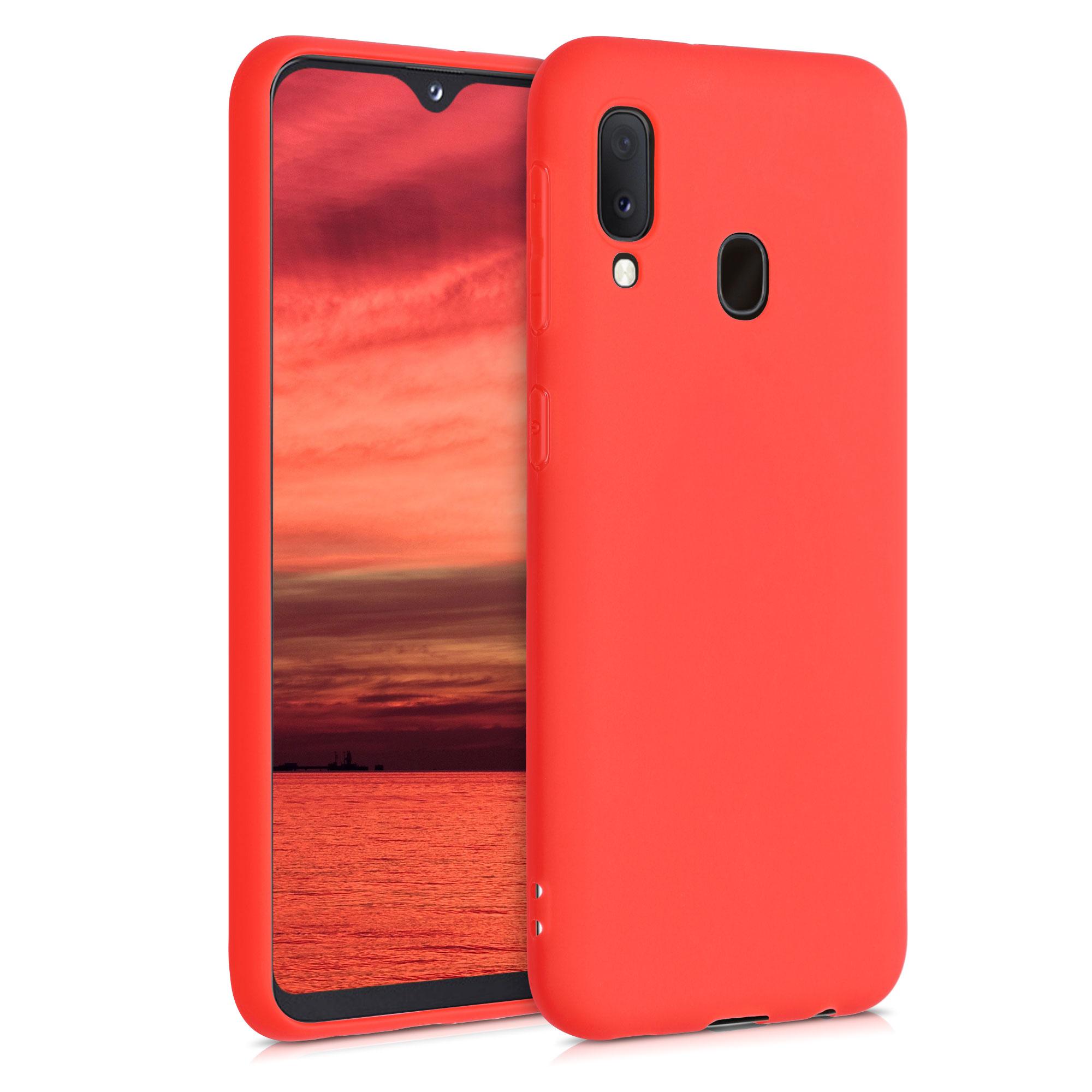 Kvalitní silikonové TPU pouzdro pro Samsung A20e - Neon Red