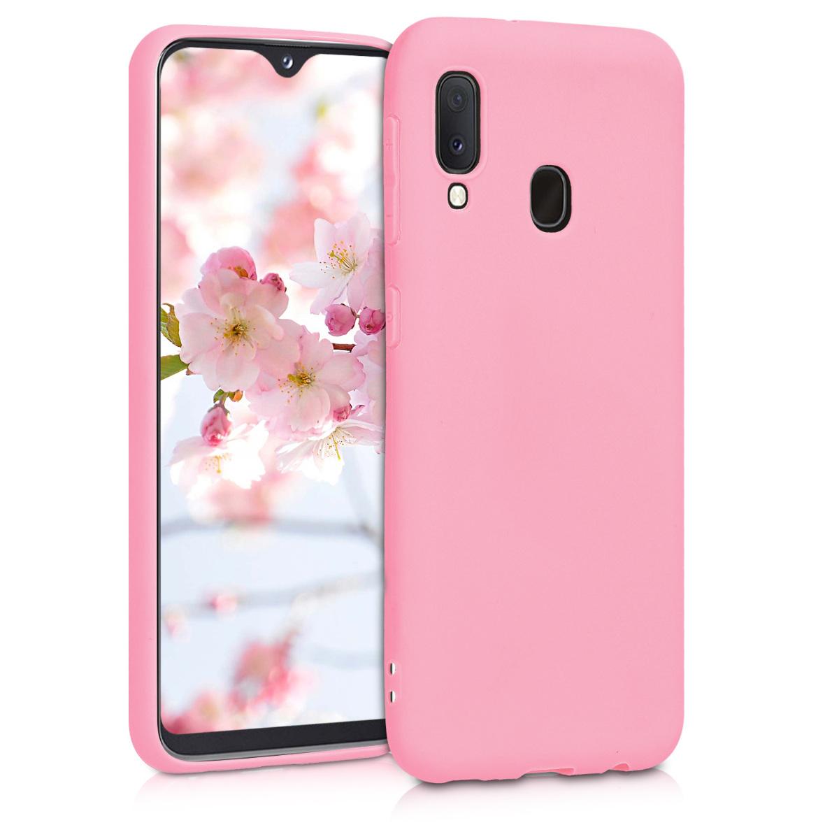Kvalitní silikonové TPU pouzdro pro Samsung A20e - světle růžové matné