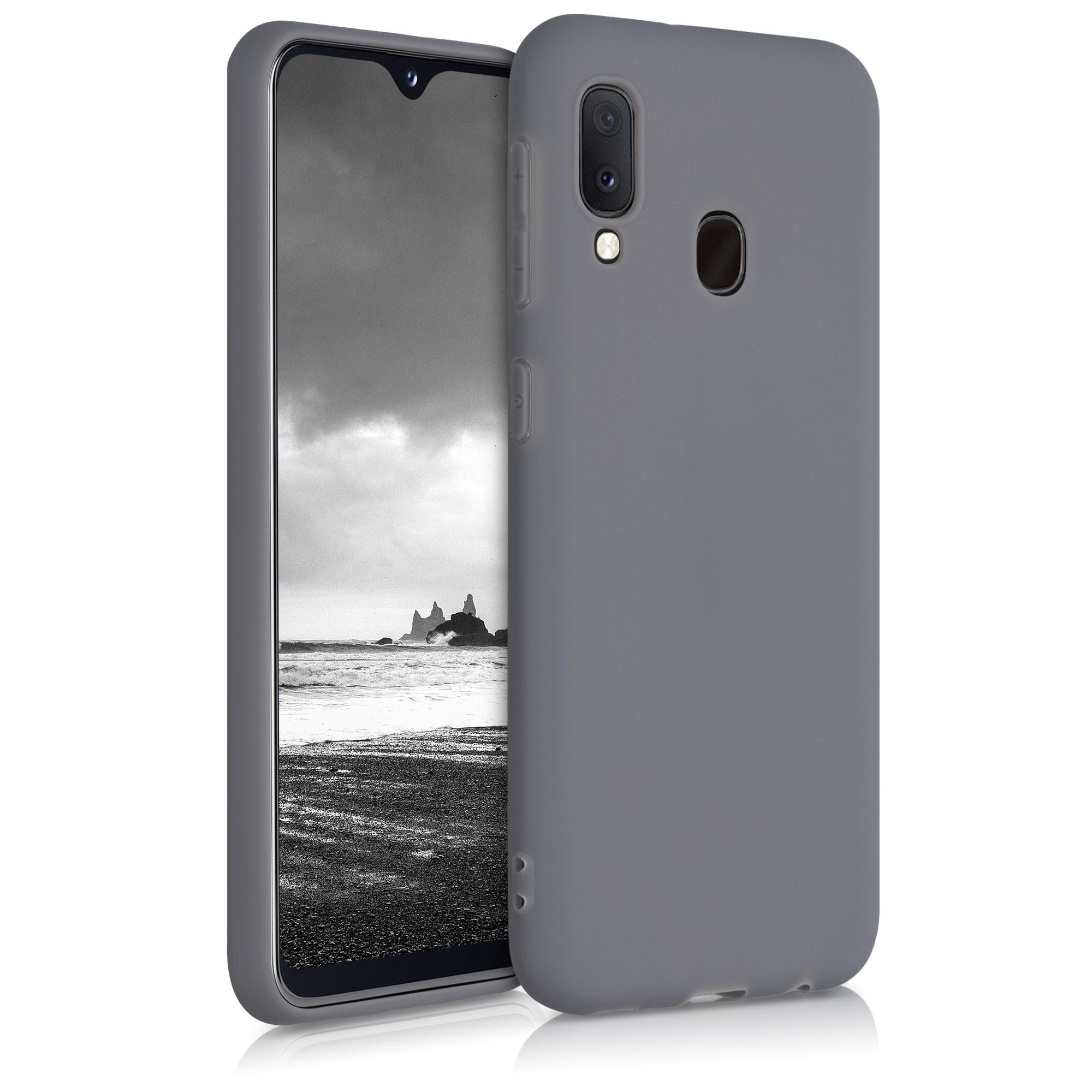Kvalitní silikonové TPU pouzdro pro Samsung A20e - Titanium Gray