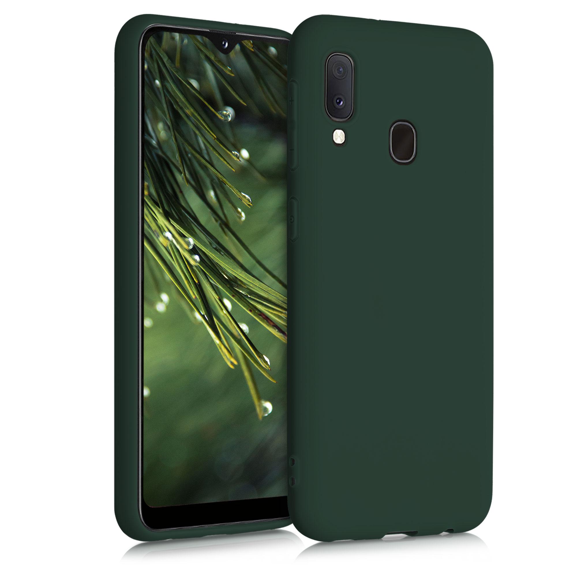 Kvalitní silikonové TPU pouzdro pro Samsung A20e - Moss Green