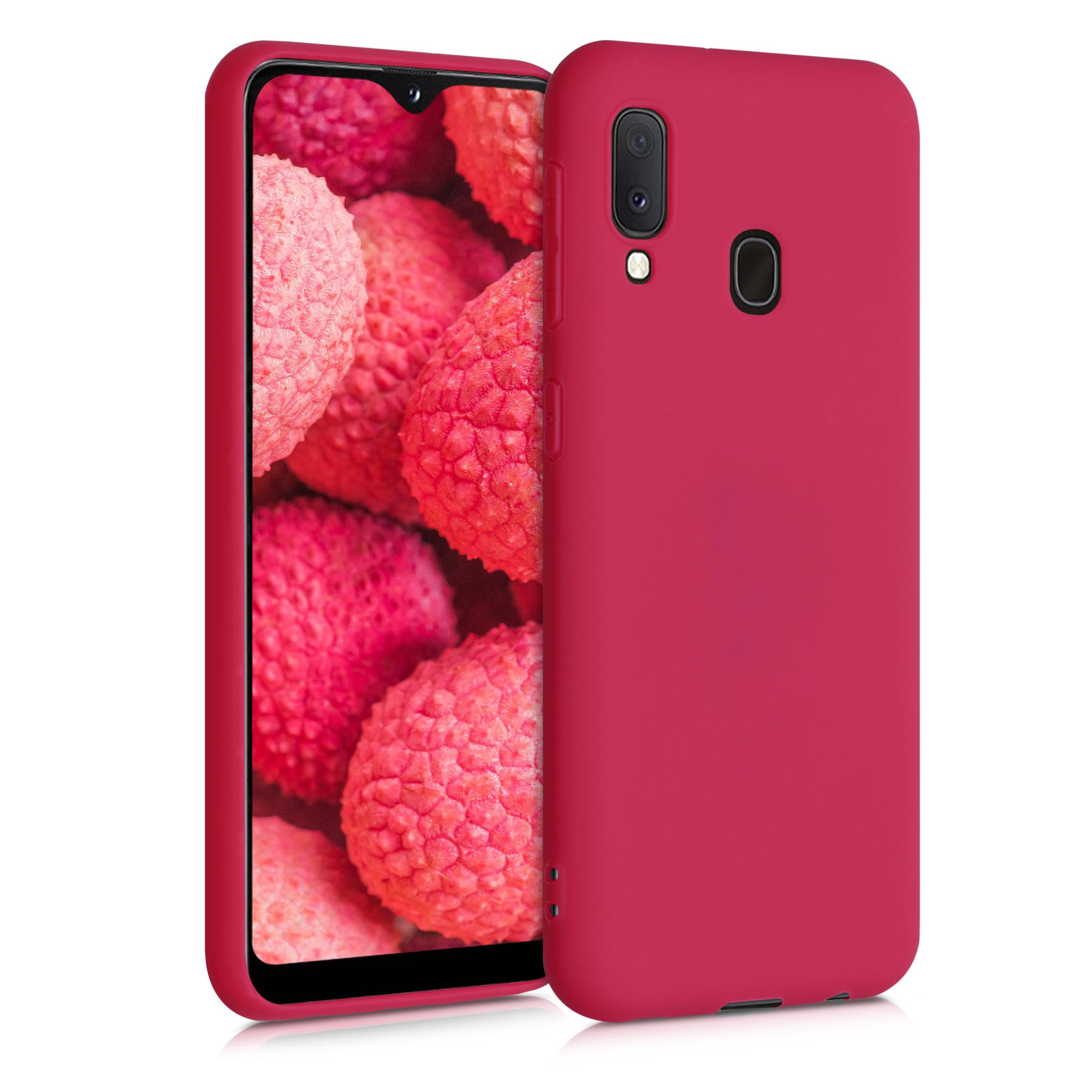 Kvalitní silikonové TPU pouzdro pro Samsung A20e - Pomegranate Red