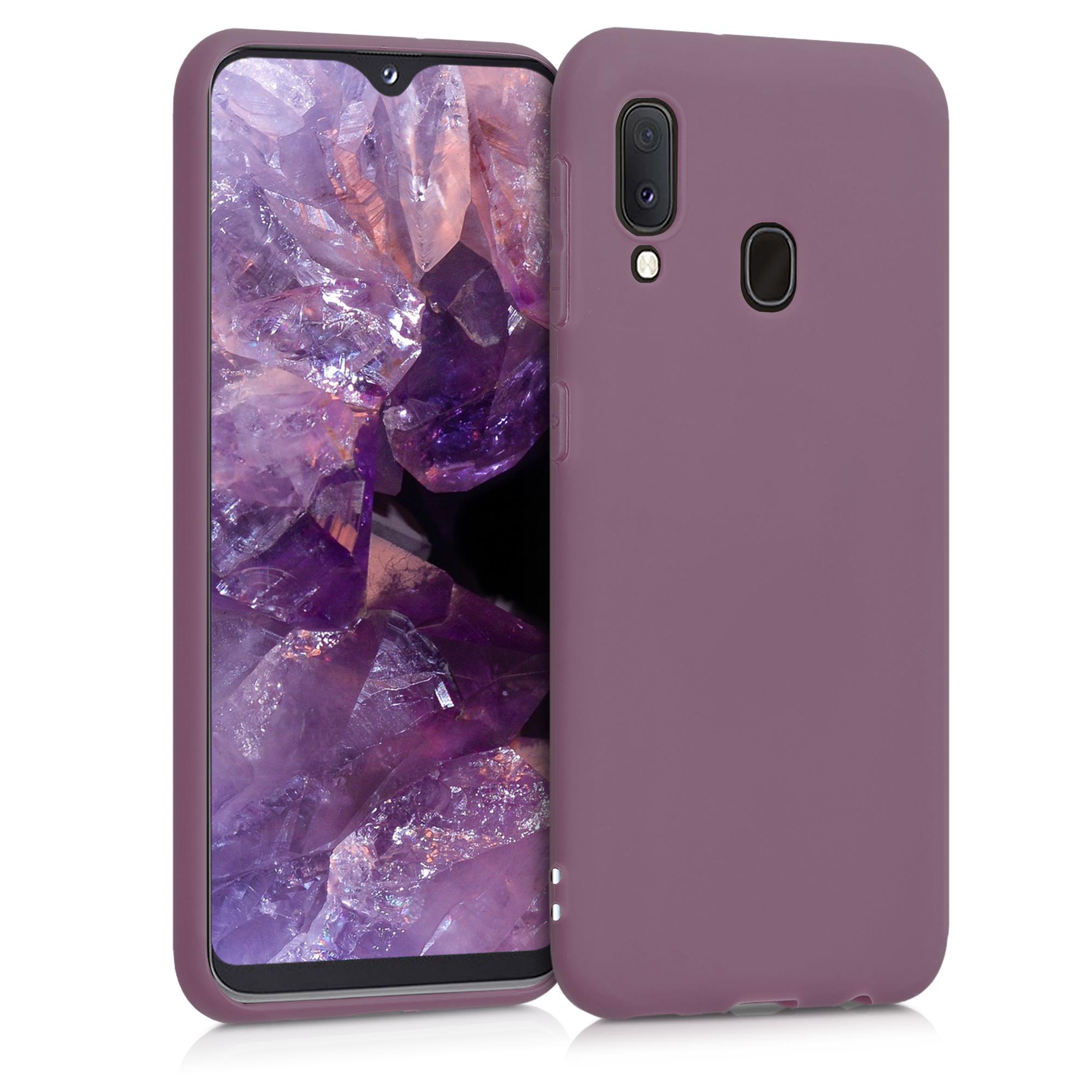 Kvalitní silikonové TPU pouzdro pro Samsung A20e - Grape Fialová