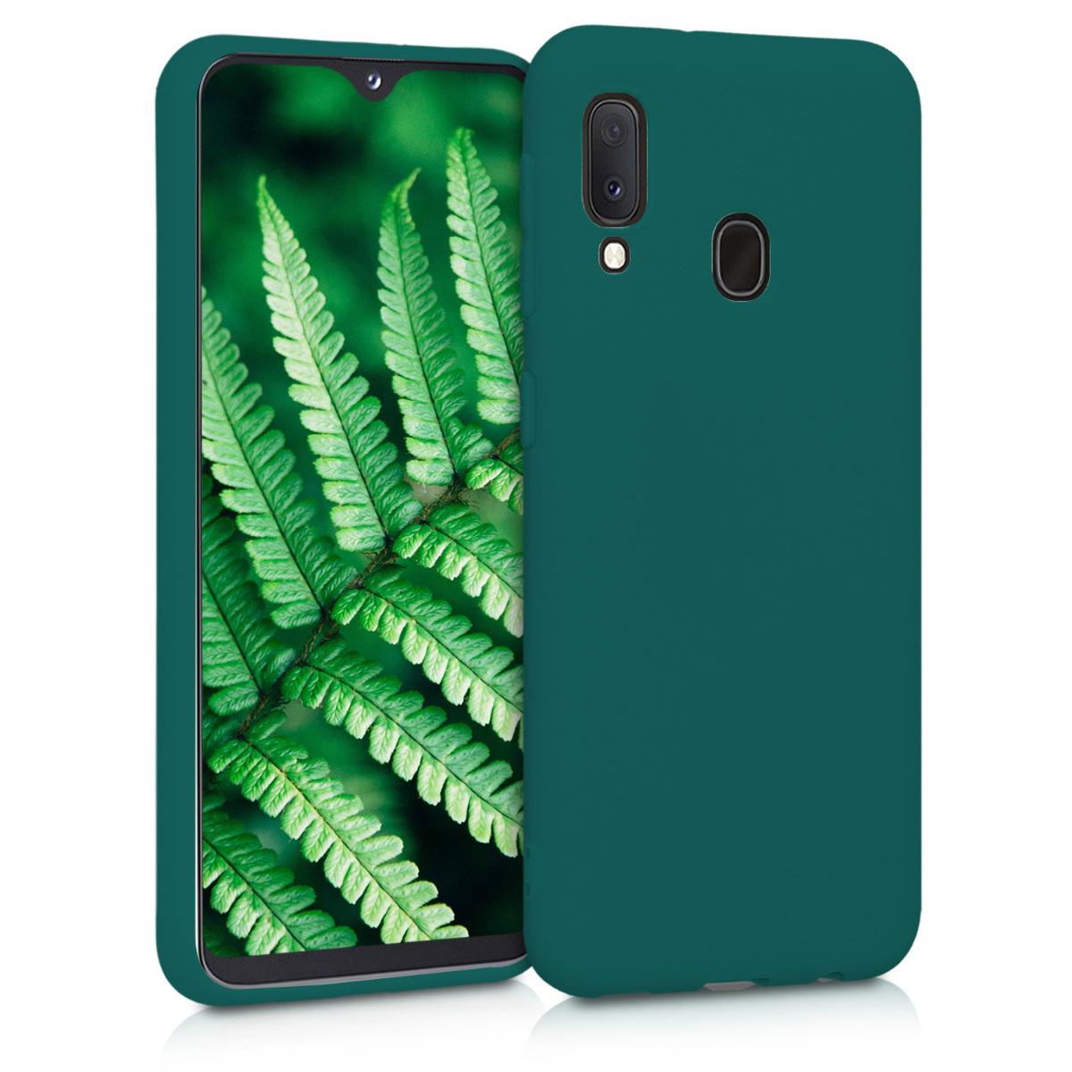 Kvalitní silikonové TPU pouzdro pro Samsung A20e - tyrkysové zelené