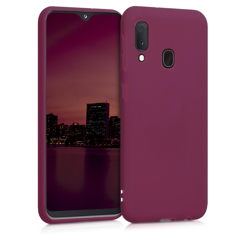Kvalitní silikonové TPU pouzdro pro Samsung A20e - Bordeaux fialové