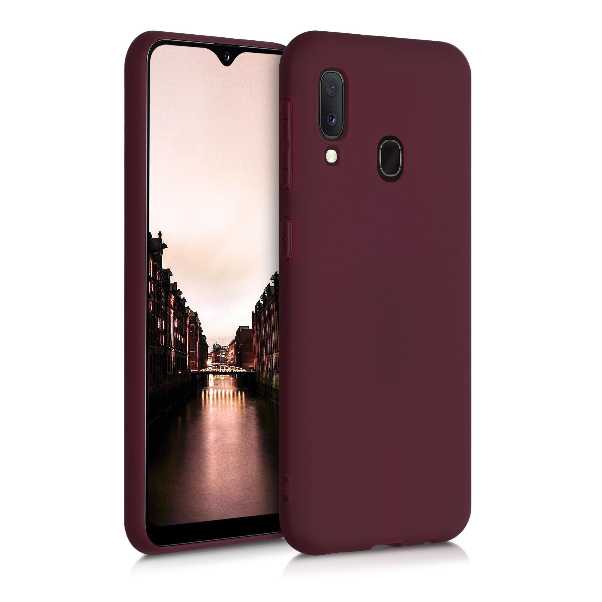 Kvalitní silikonové TPU pouzdro pro Samsung A20e - Tawny červené