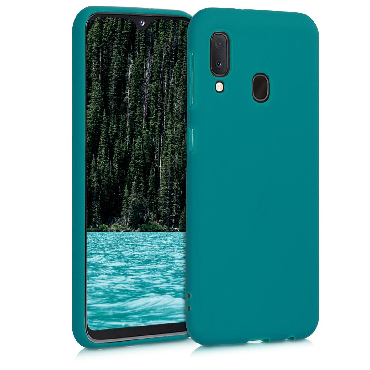 Kvalitní silikonové TPU pouzdro pro Samsung A20e - Teal matné
