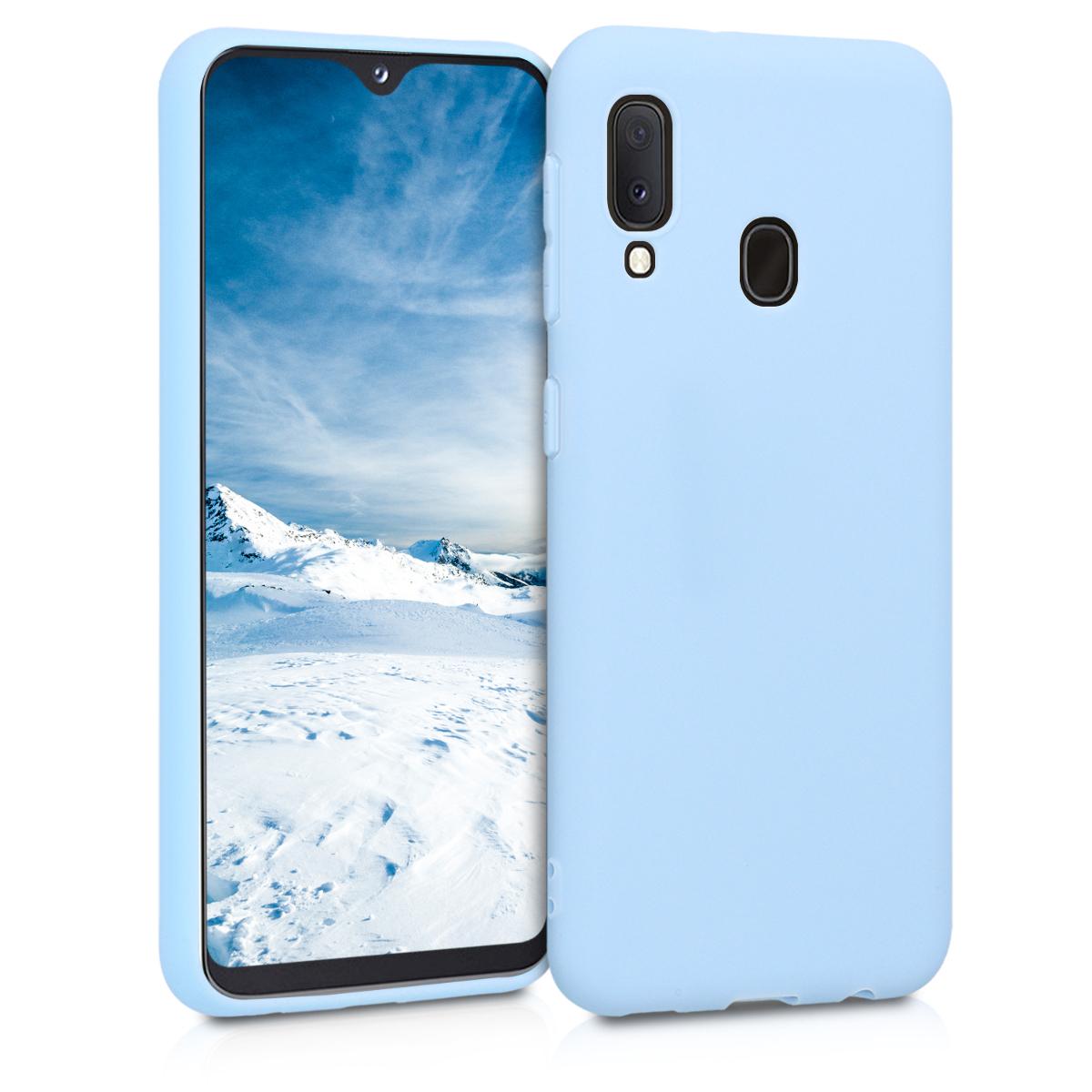 Kvalitní silikonové TPU pouzdro pro Samsung A20e - světle  modré matné