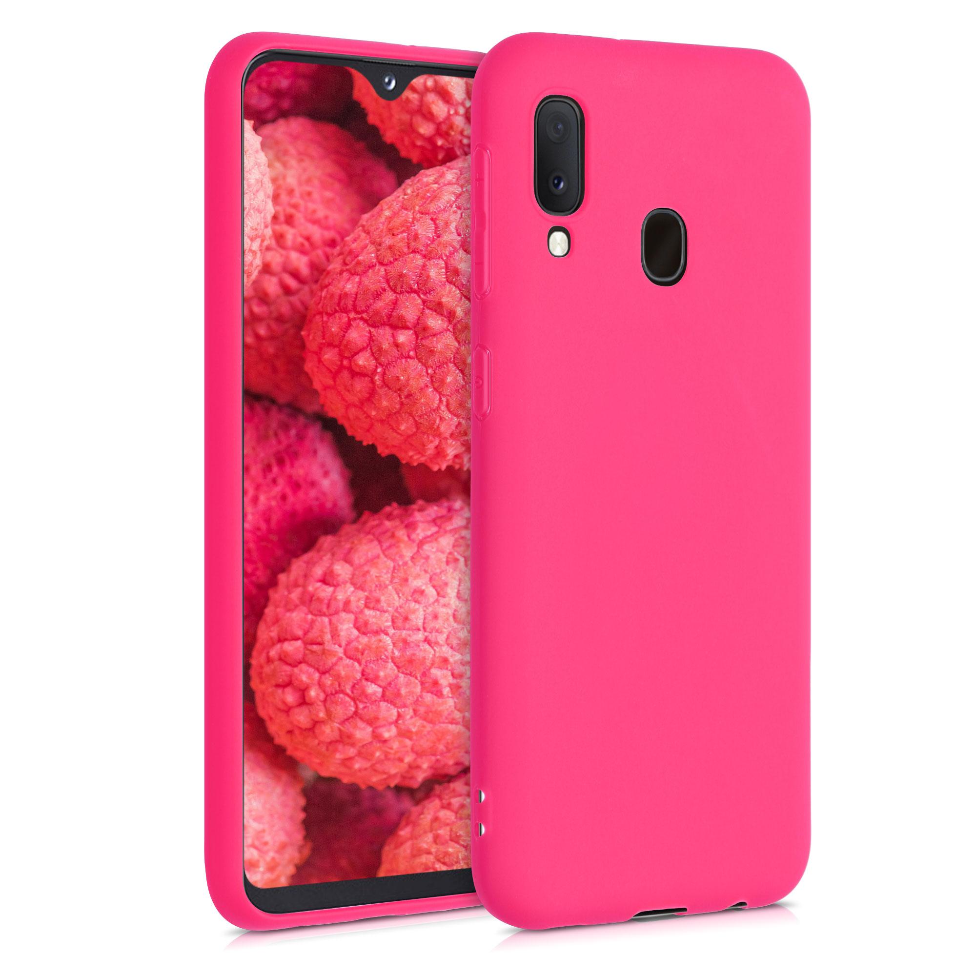 Kvalitní silikonové TPU pouzdro pro Samsung A20e - Neon Pink