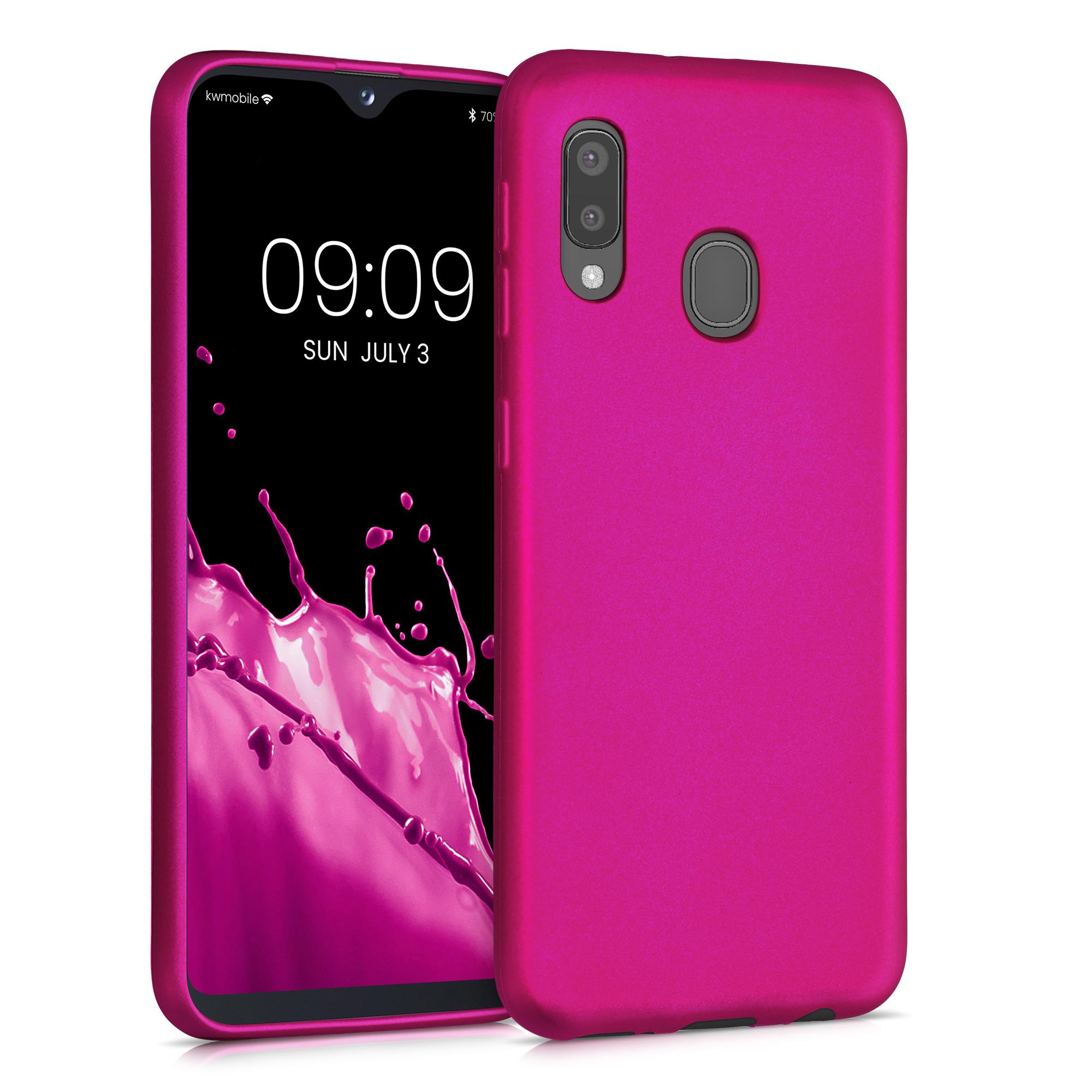 Kvalitní silikonové TPU pouzdro pro Samsung A20e - metalické růžové