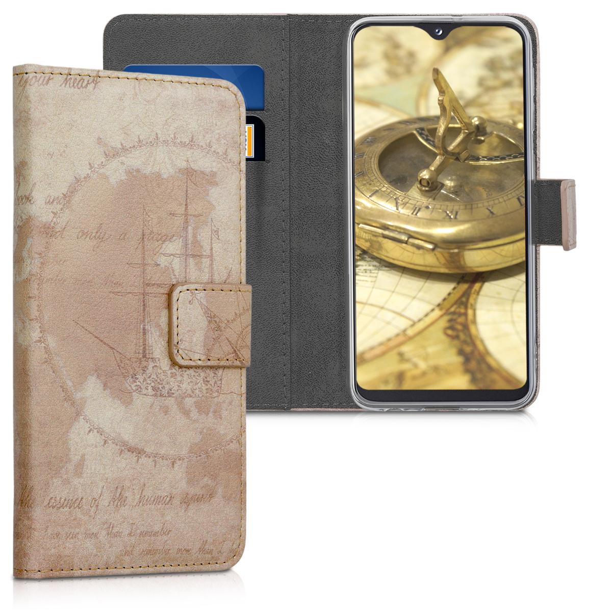 Kožené pouzdro pro Samsung A20e - Travel Vintage Brown / světle  hnědá