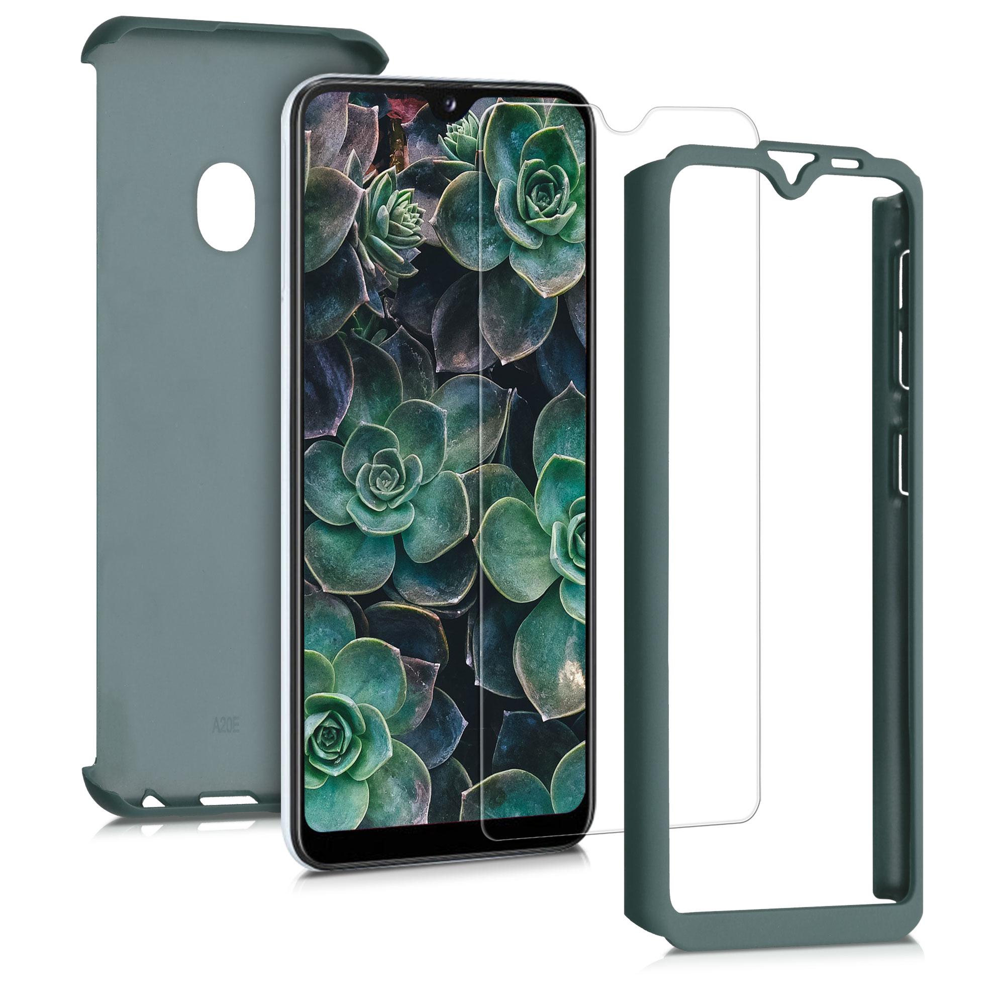 Kvalitní plastové pouzdro pro Samsung A20e - Tmavé Metallic Green