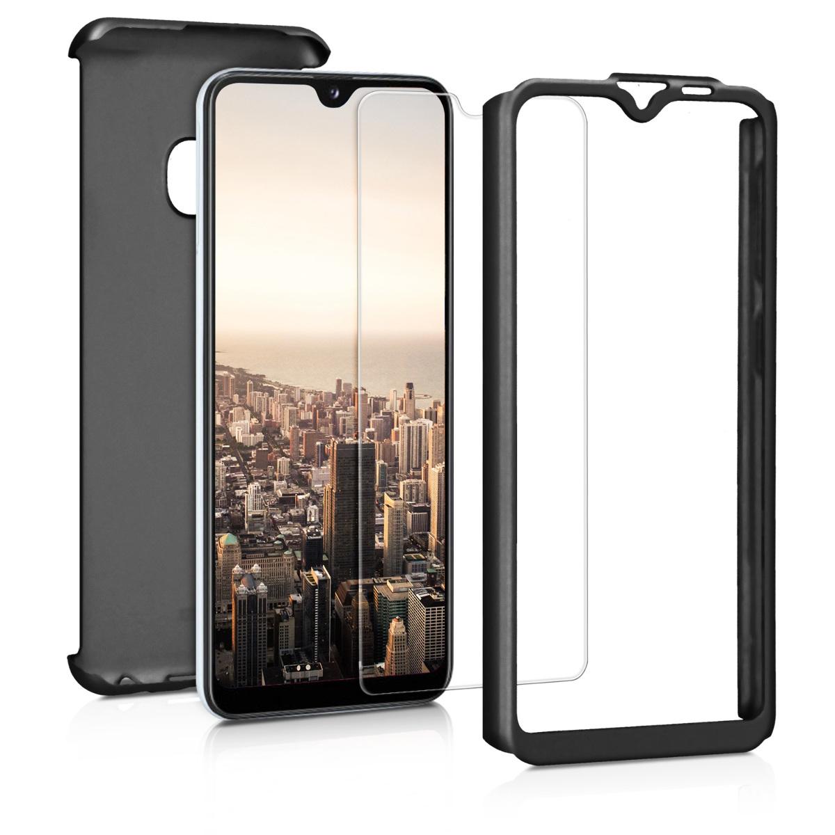 Kvalitní plastové pouzdro pro Samsung A20e - metalické černé