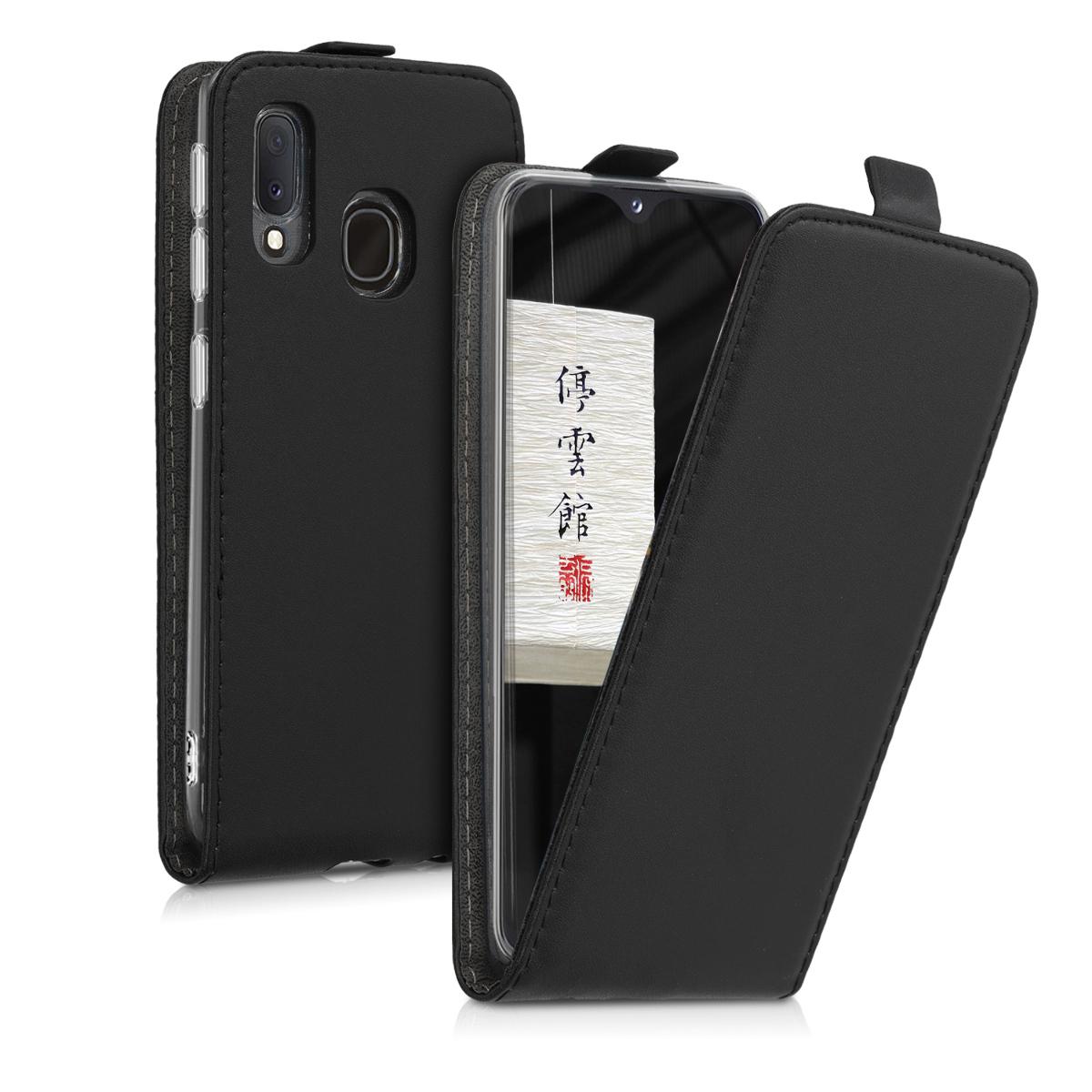 Kožené pouzdro pro Samsung A20e - černé