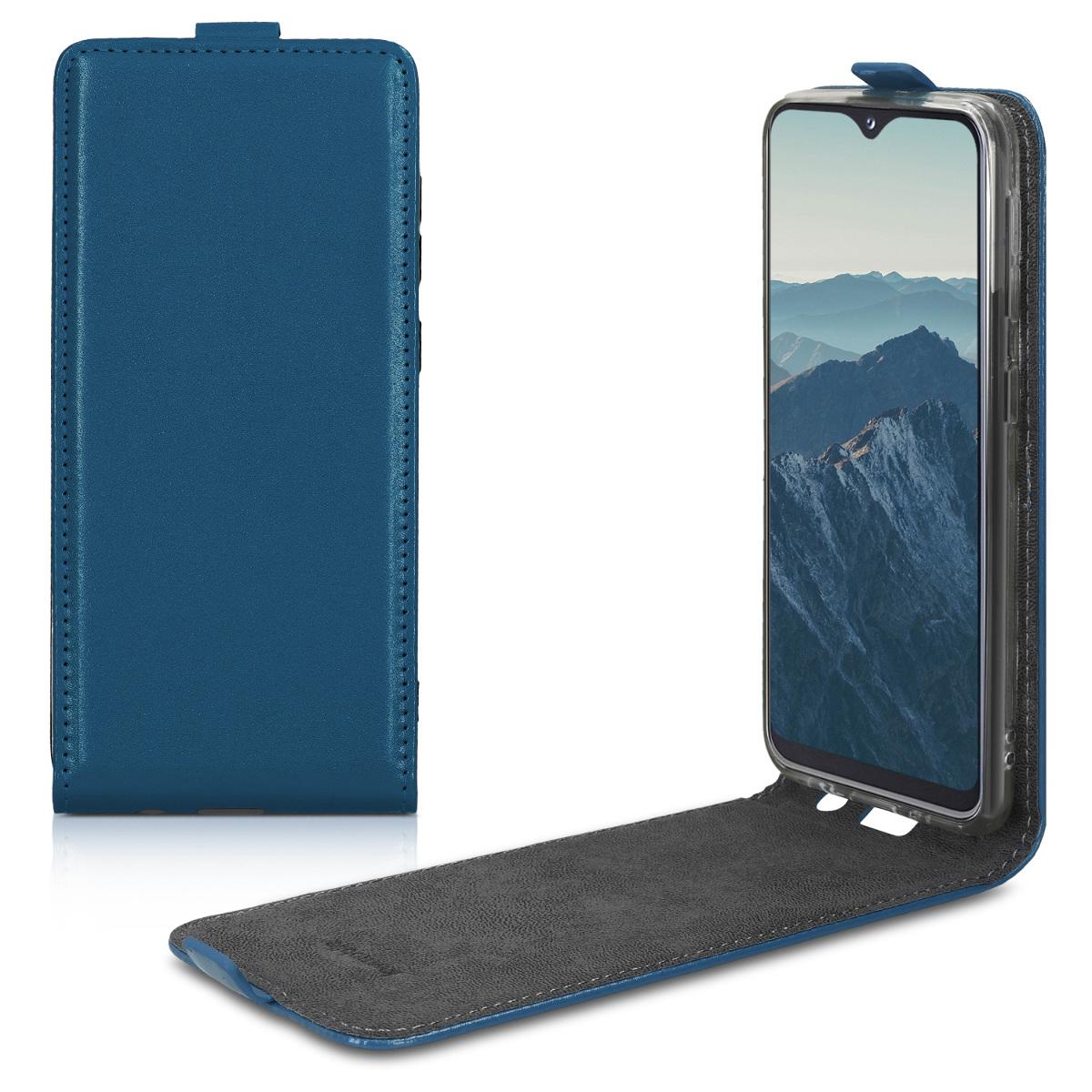Kožené pouzdro pro Samsung A20e - tmavě modré