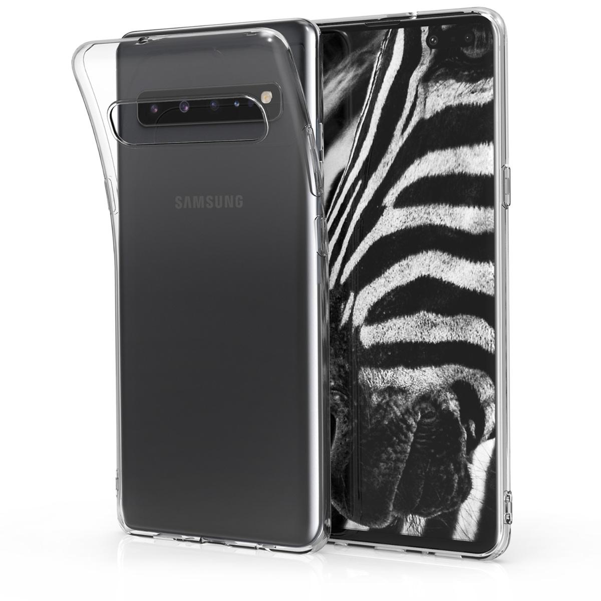 Kvalitní silikonové TPU pouzdro pro Samsung S10 5G - průhledné